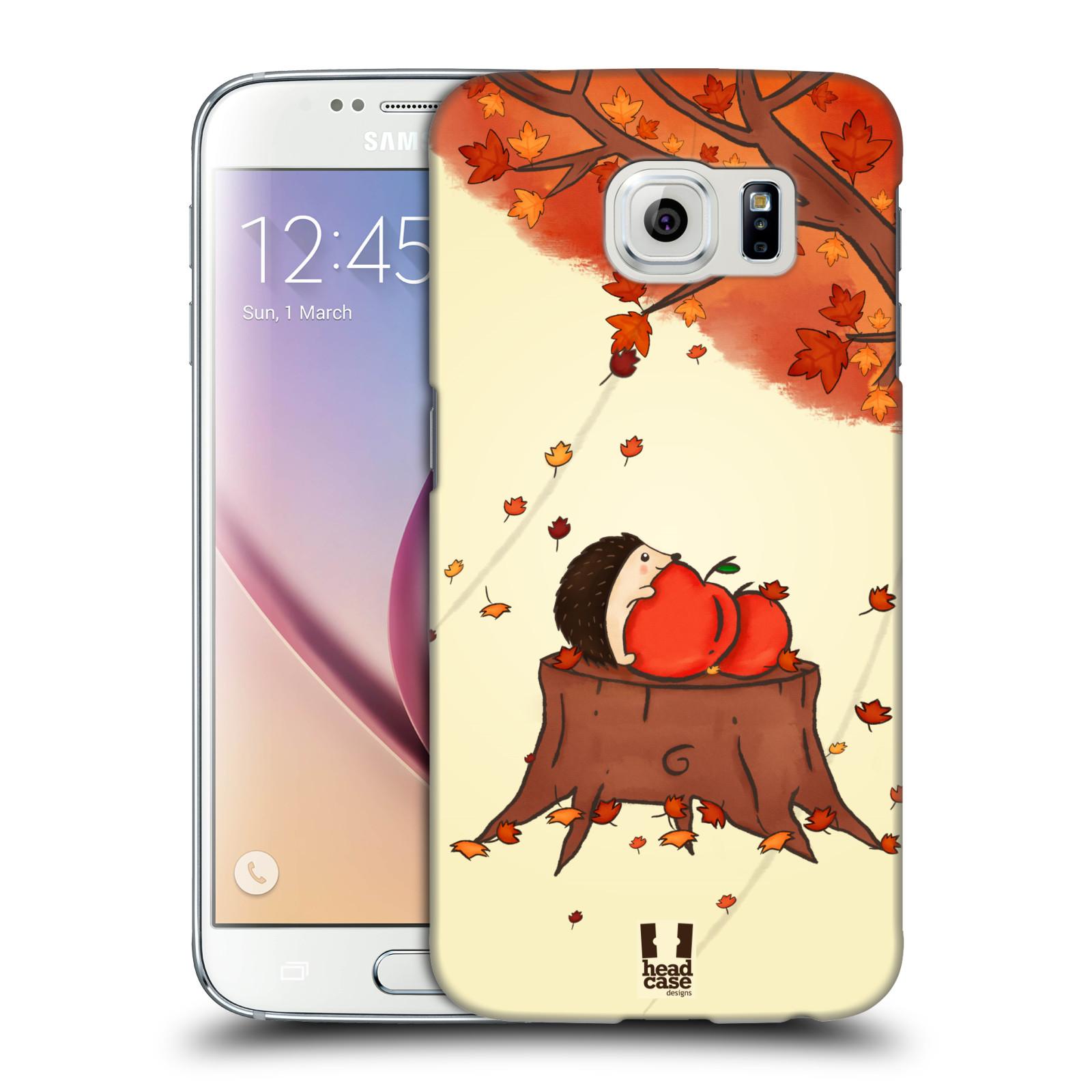 HEAD CASE plastový obal na mobil SAMSUNG Galaxy S6 (G9200, G920F) vzor podzimní zvířátka ježek a jablíčka