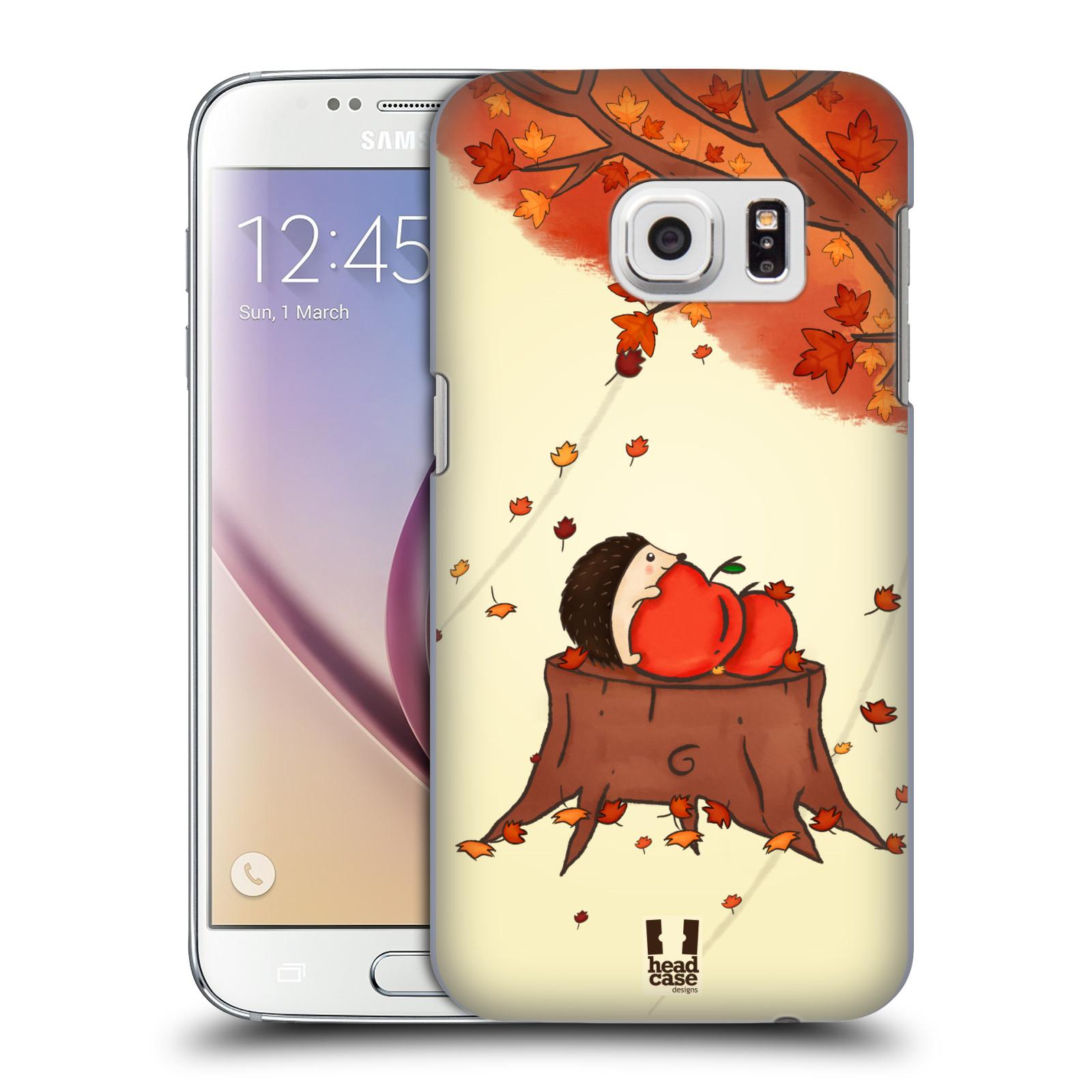 HEAD CASE plastový obal na mobil SAMSUNG GALAXY S7 vzor podzimní zvířátka ježek a jablíčka