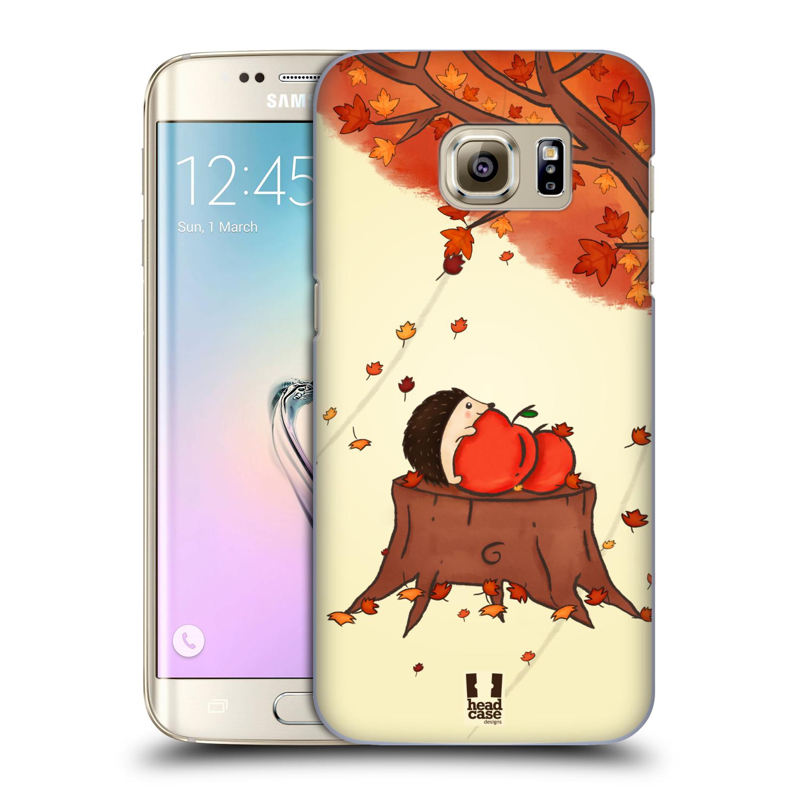 HEAD CASE plastový obal na mobil SAMSUNG GALAXY S7 EDGE vzor podzimní zvířátka ježek a jablíčka