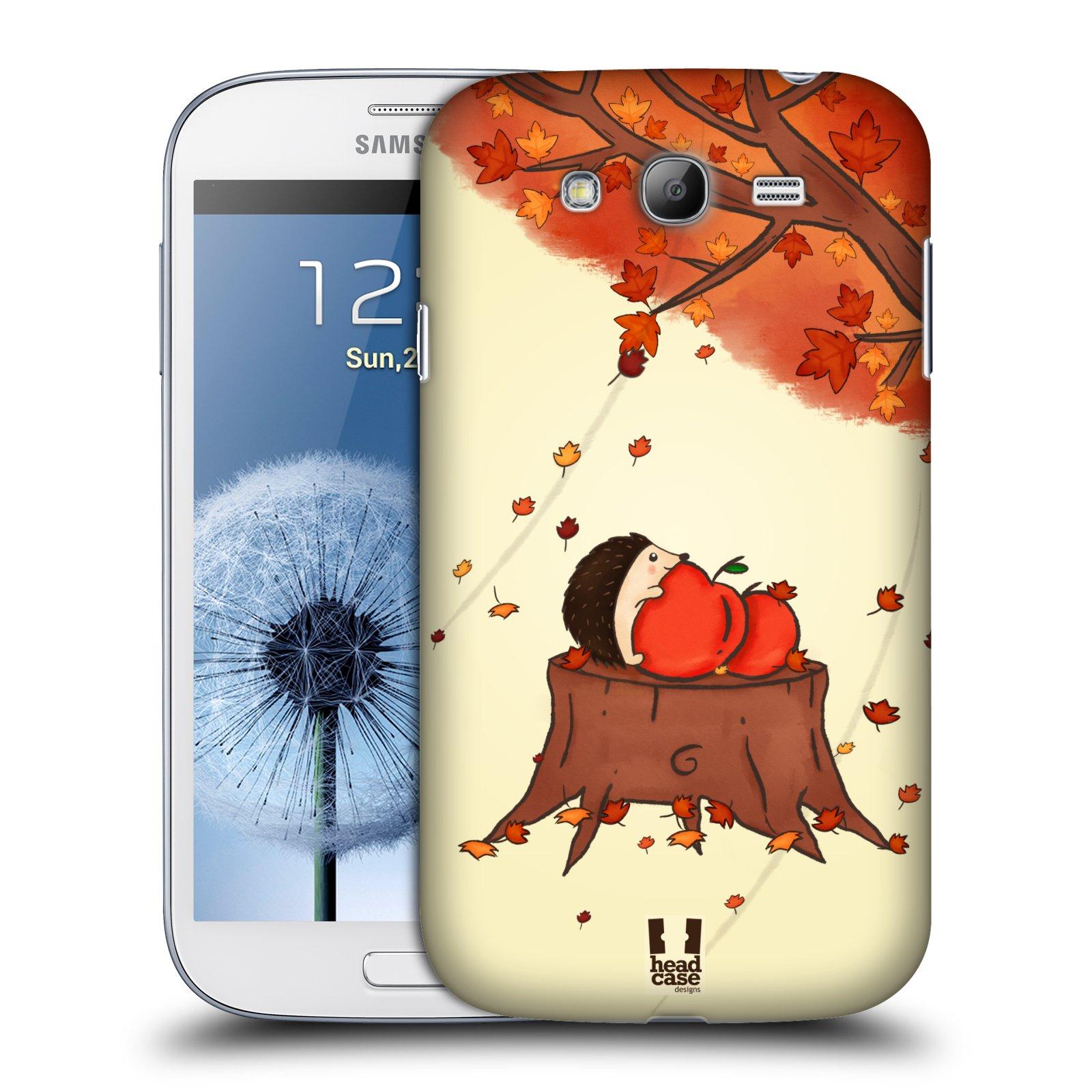 HEAD CASE plastový obal na mobil SAMSUNG GALAXY Grand i9080 vzor podzimní zvířátka ježek a jablíčka