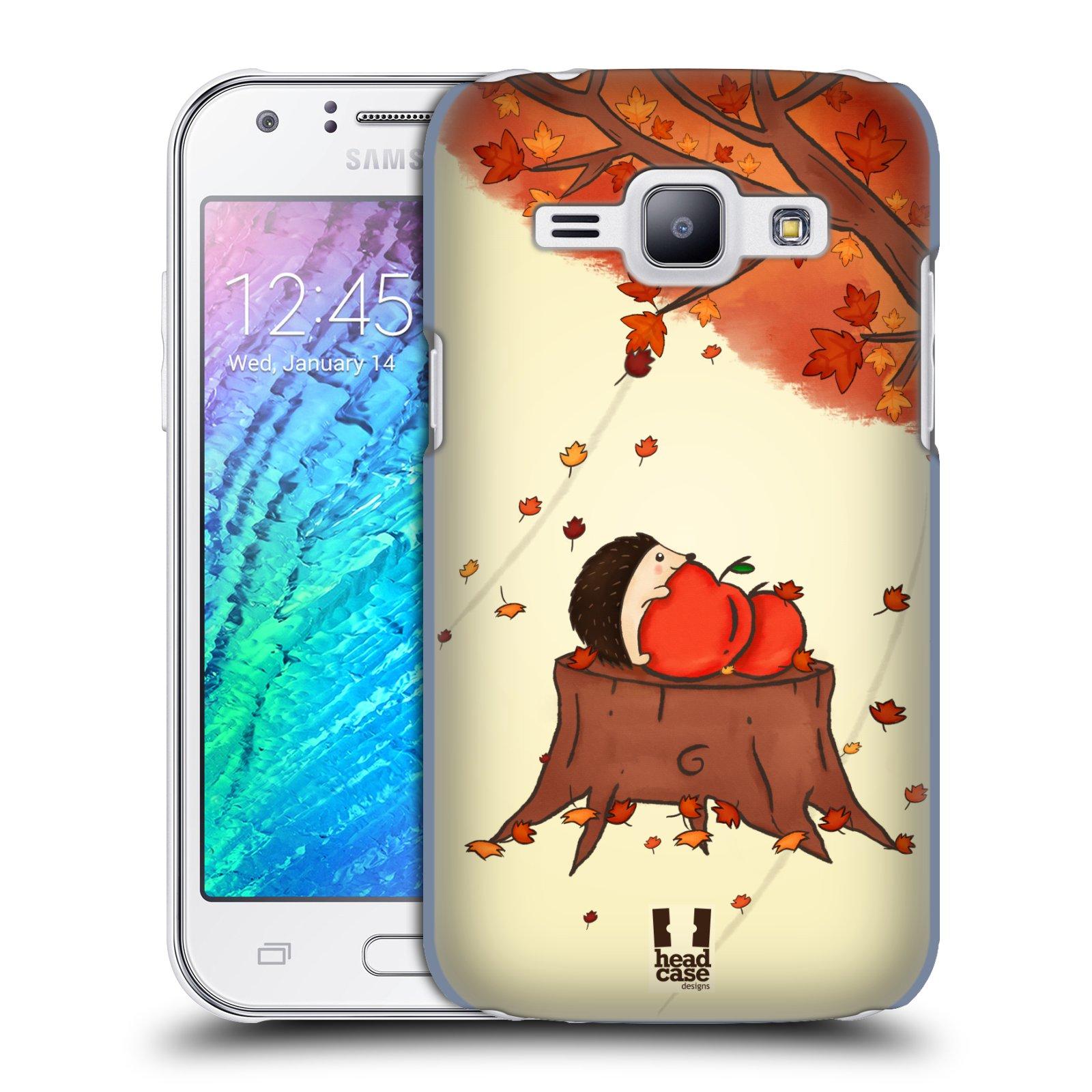 HEAD CASE plastový obal na mobil SAMSUNG Galaxy J1, J100 vzor podzimní zvířátka ježek a jablíčka
