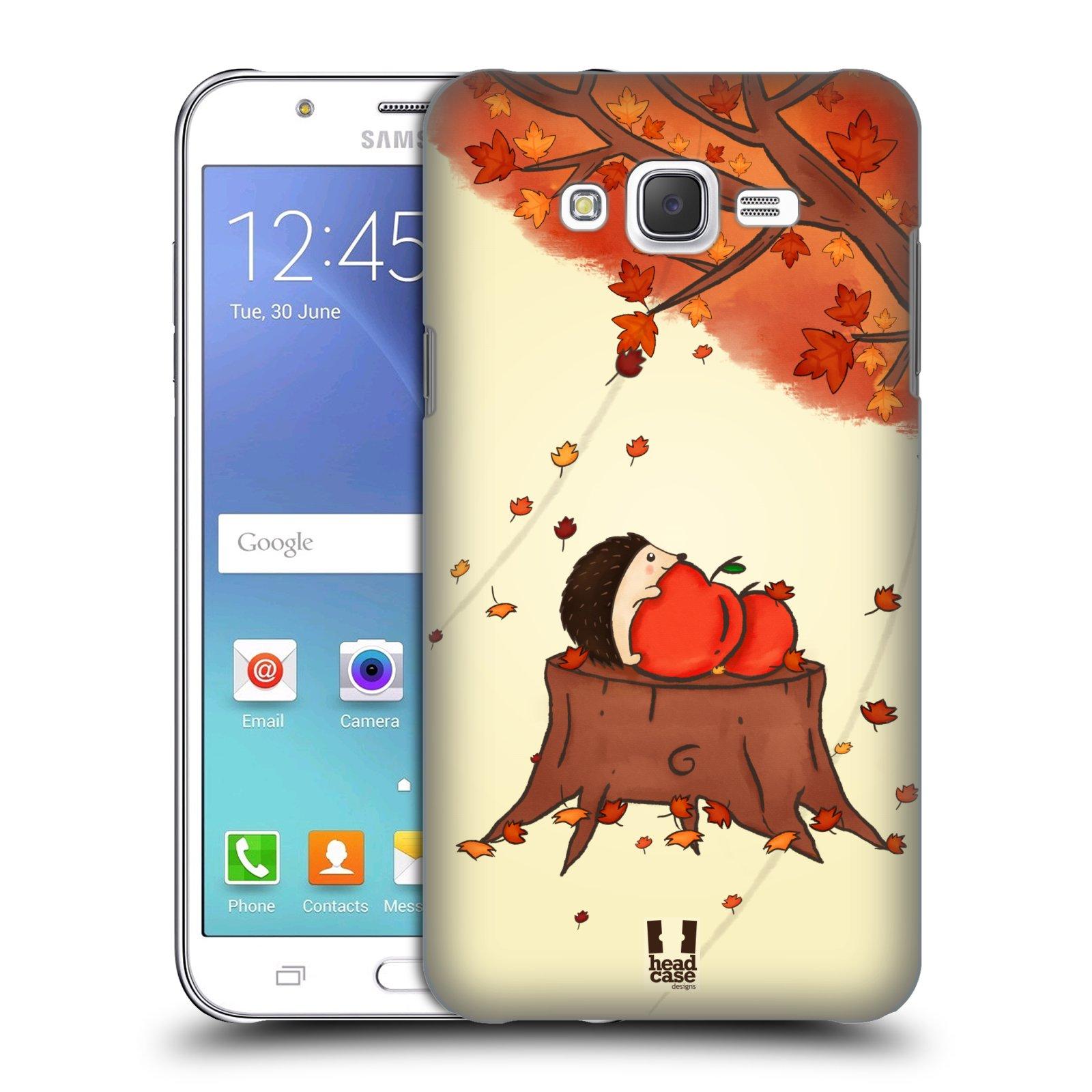 HEAD CASE plastový obal na mobil SAMSUNG Galaxy J7, J700 vzor podzimní zvířátka ježek a jablíčka