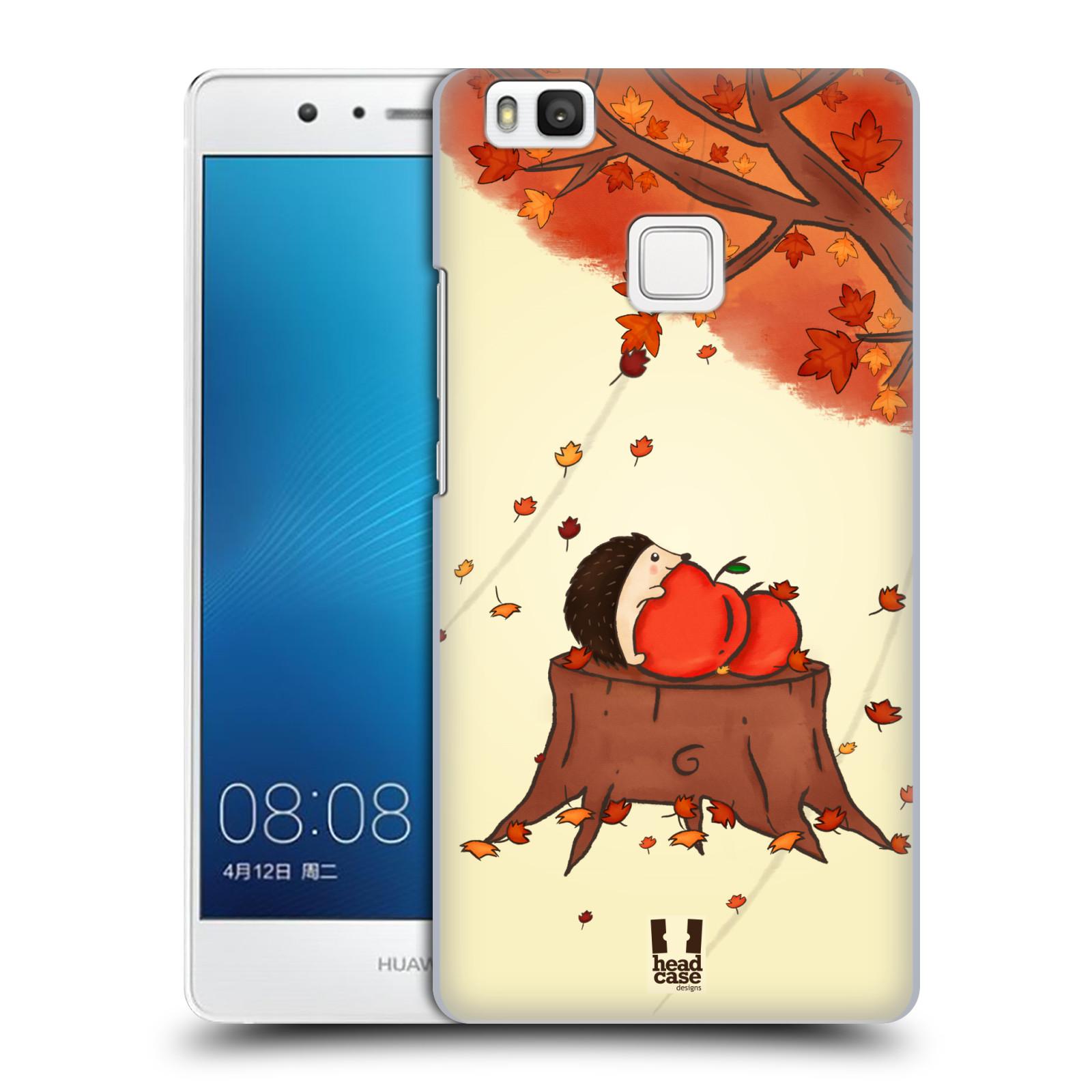 HEAD CASE plastový obal na mobil Huawei P9 LITE / P9 LITE DUAL SIM vzor podzimní zvířátka ježek a jablíčka
