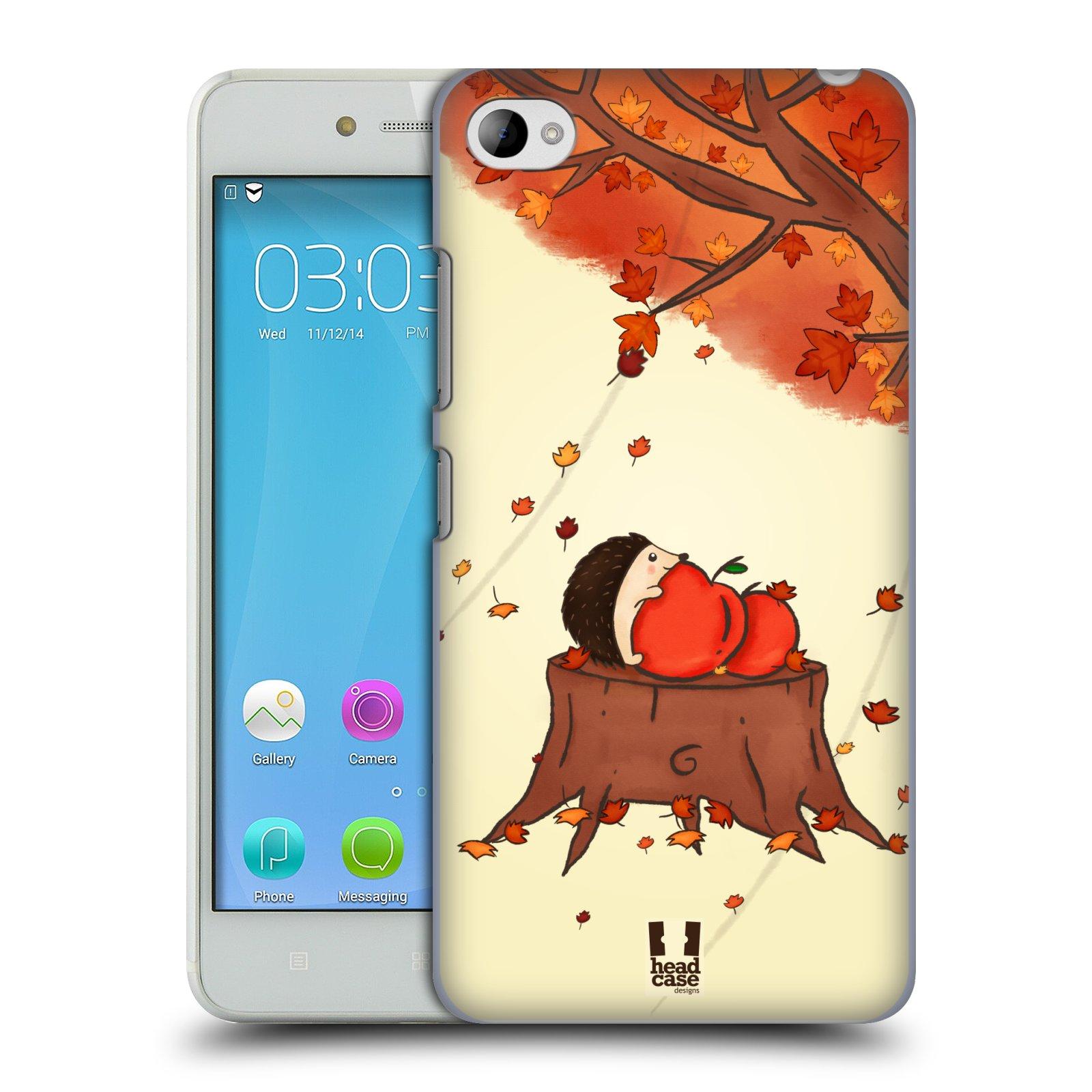 HEAD CASE pevný plastový obal na mobil LENOVO S90 vzor podzimní zvířátka ježek a jablíčka