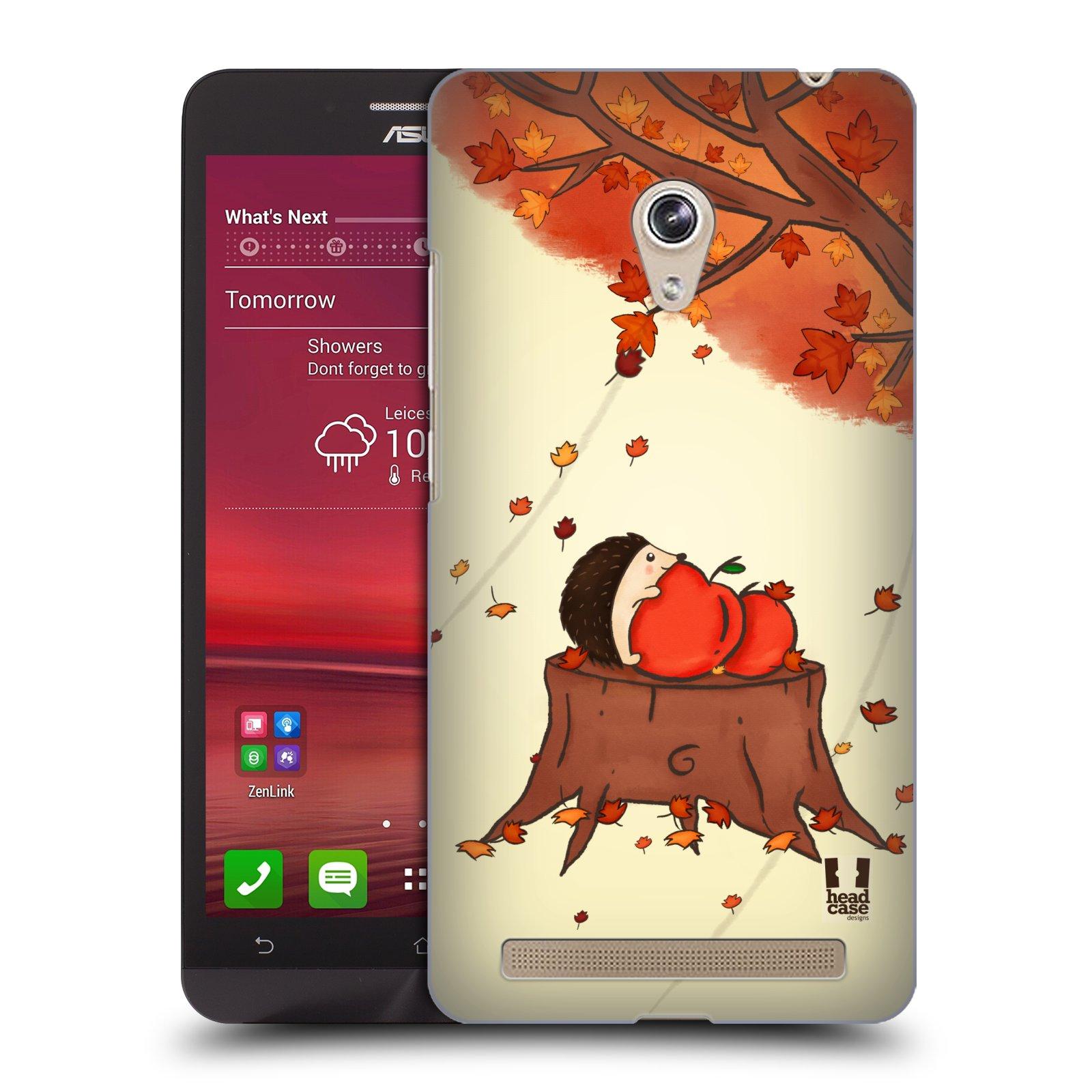HEAD CASE plastový obal na mobil Asus Zenfone 6 vzor podzimní zvířátka ježek a jablíčka