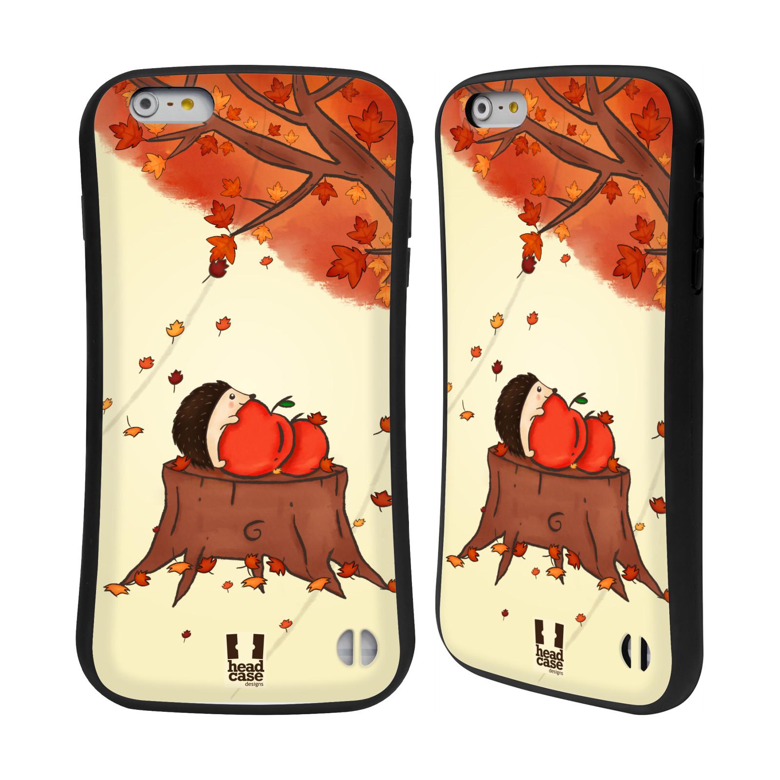 HEAD CASE silikon/plast odolný obal na mobil Apple Iphone 6 PLUS / 6S PLUS vzor podzimní zvířátka ježek a jablíčka