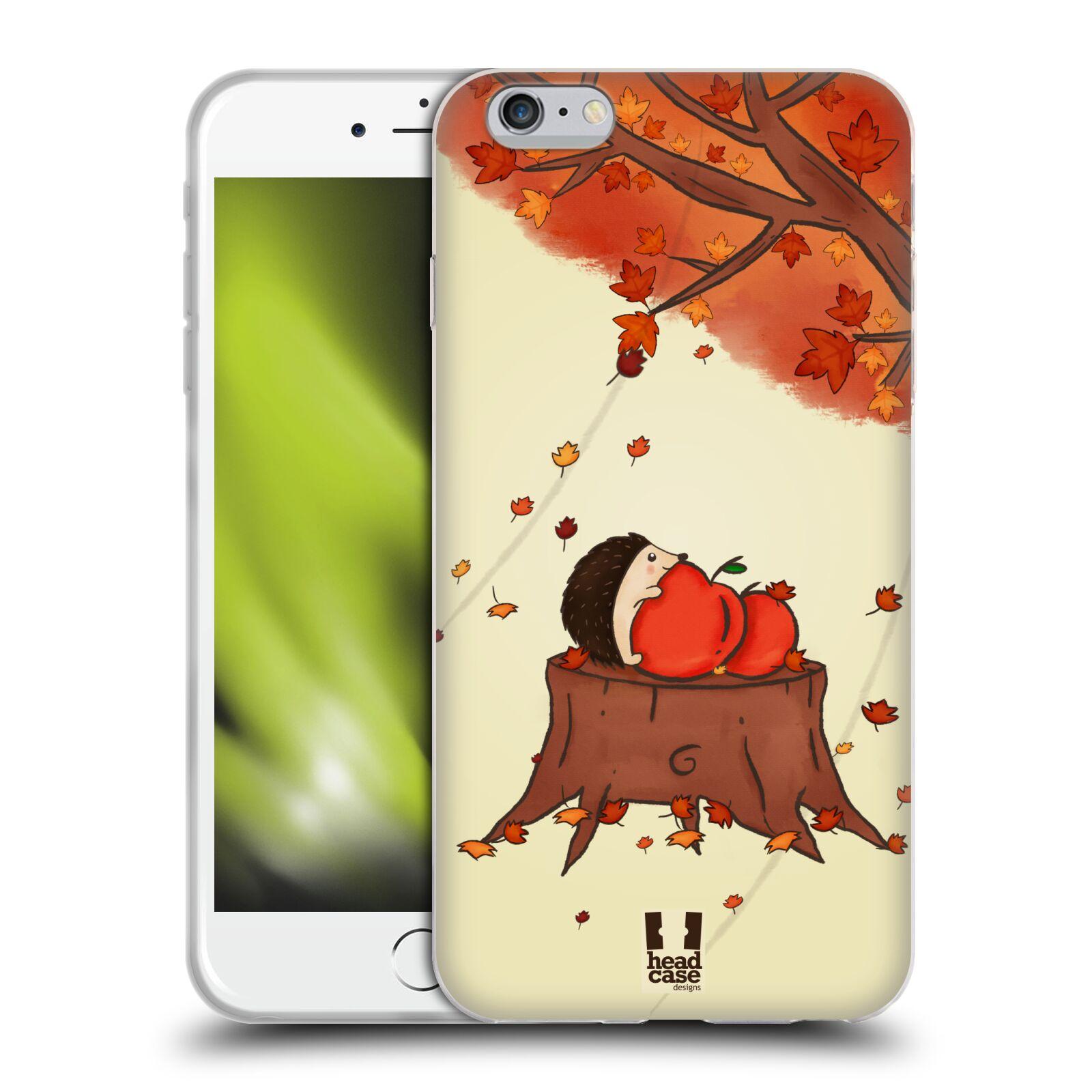 HEAD CASE silikonový obal na mobil Apple Iphone 6 PLUS/ 6S PLUS vzor podzimní zvířátka ježek a jablíčka