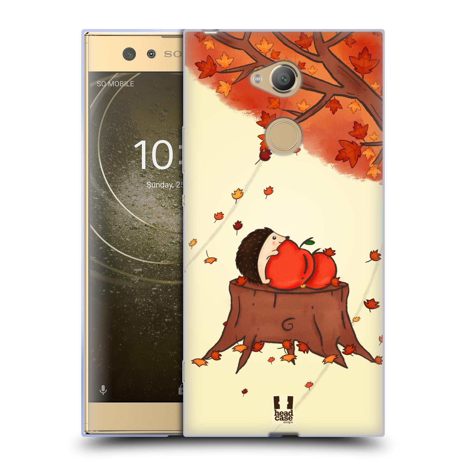 Pouzdro na mobil Sony Xperia XA2 Ultra vzor podzimní zvířátka ježek a jablíčka
