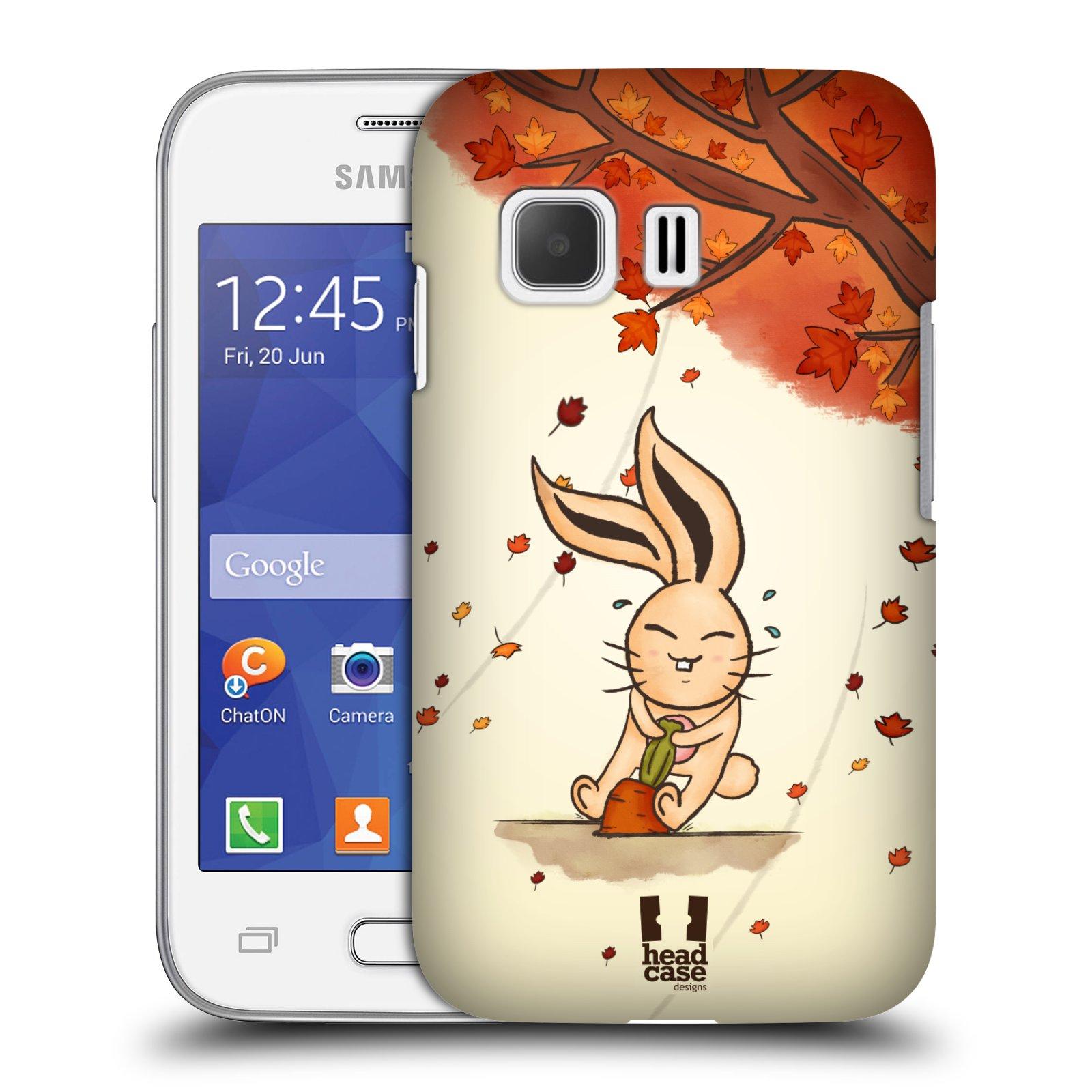HEAD CASE plastový obal na mobil SAMSUNG Galaxy Young 2 (G130) vzor podzimní zvířátka zajíček a mrkev