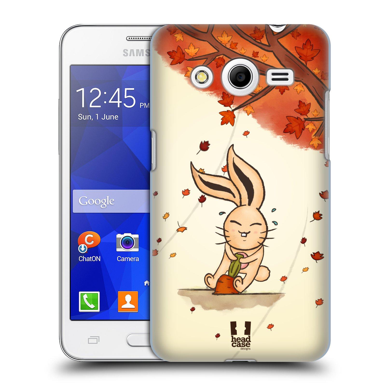 HEAD CASE plastový obal na mobil SAMSUNG GALAXY Core 2 (G355H) vzor podzimní zvířátka zajíček a mrkev