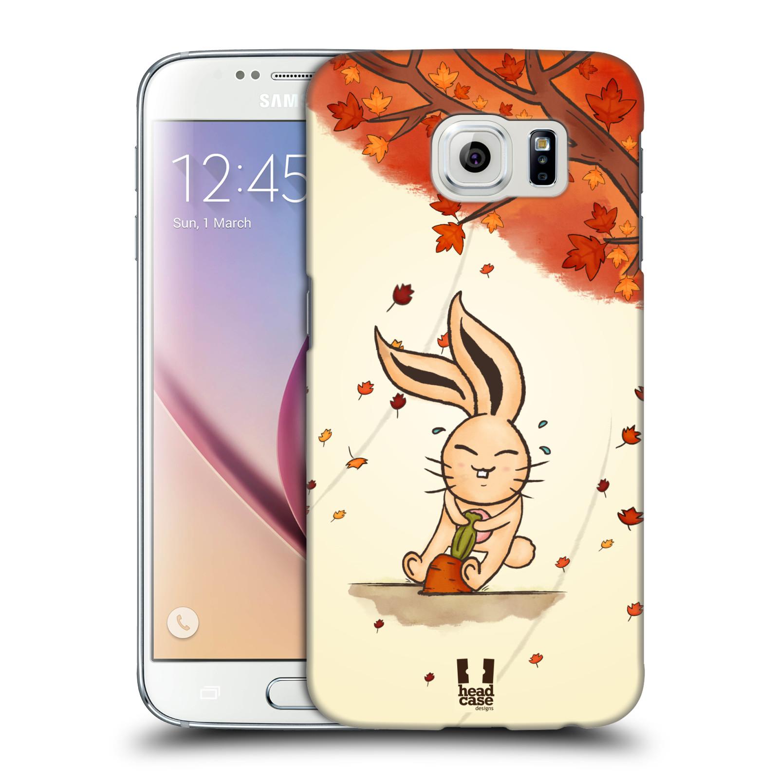 HEAD CASE plastový obal na mobil SAMSUNG Galaxy S6 (G9200, G920F) vzor podzimní zvířátka zajíček a mrkev
