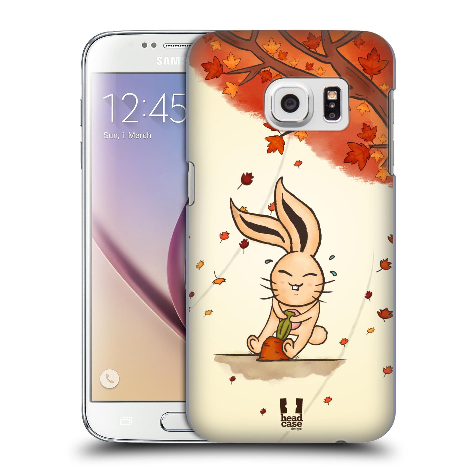 HEAD CASE plastový obal na mobil SAMSUNG GALAXY S7 vzor podzimní zvířátka zajíček a mrkev