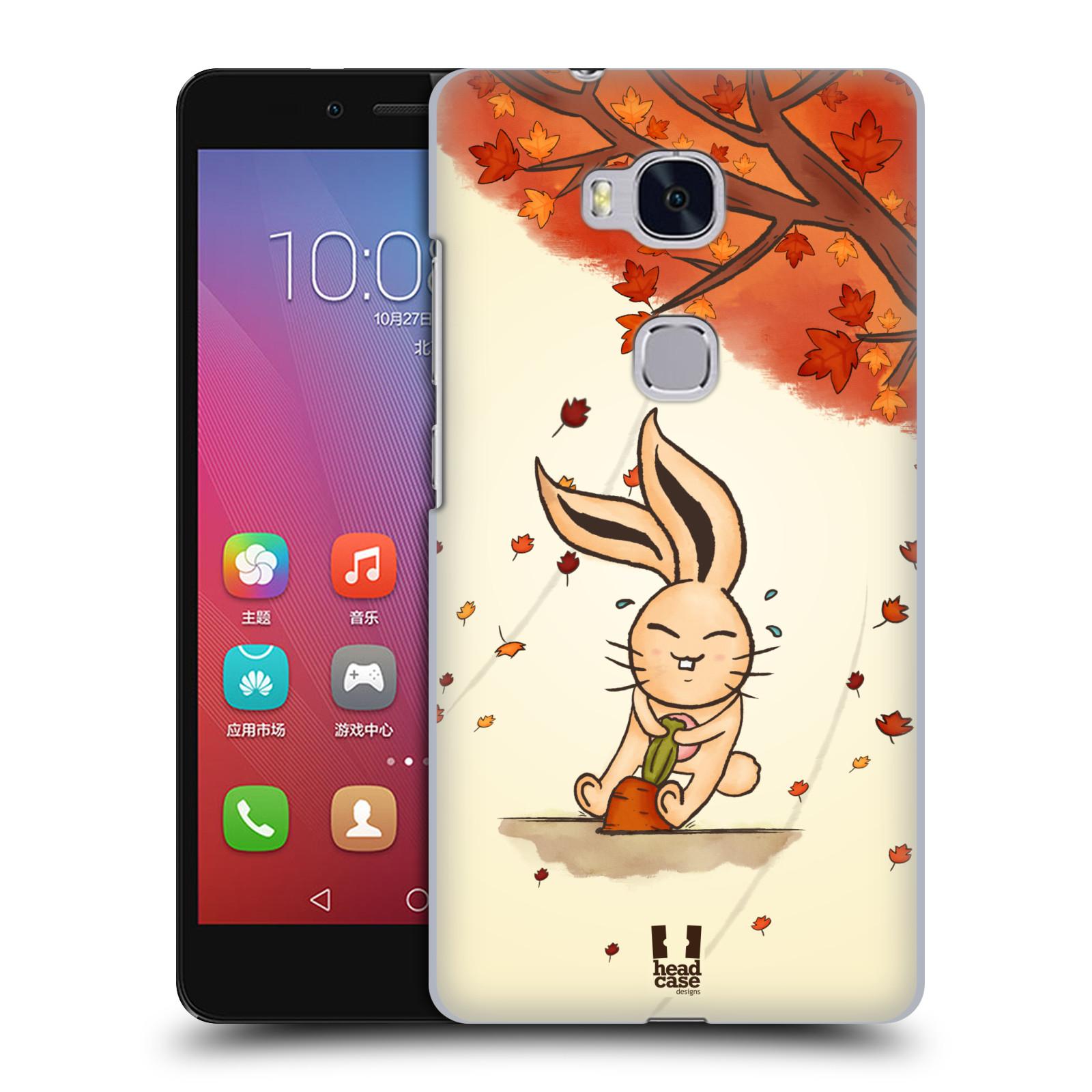 HEAD CASE pevný plastový obal na mobil HUAWEI HONOR 5X vzor podzimní zvířátka zajíček a mrkev