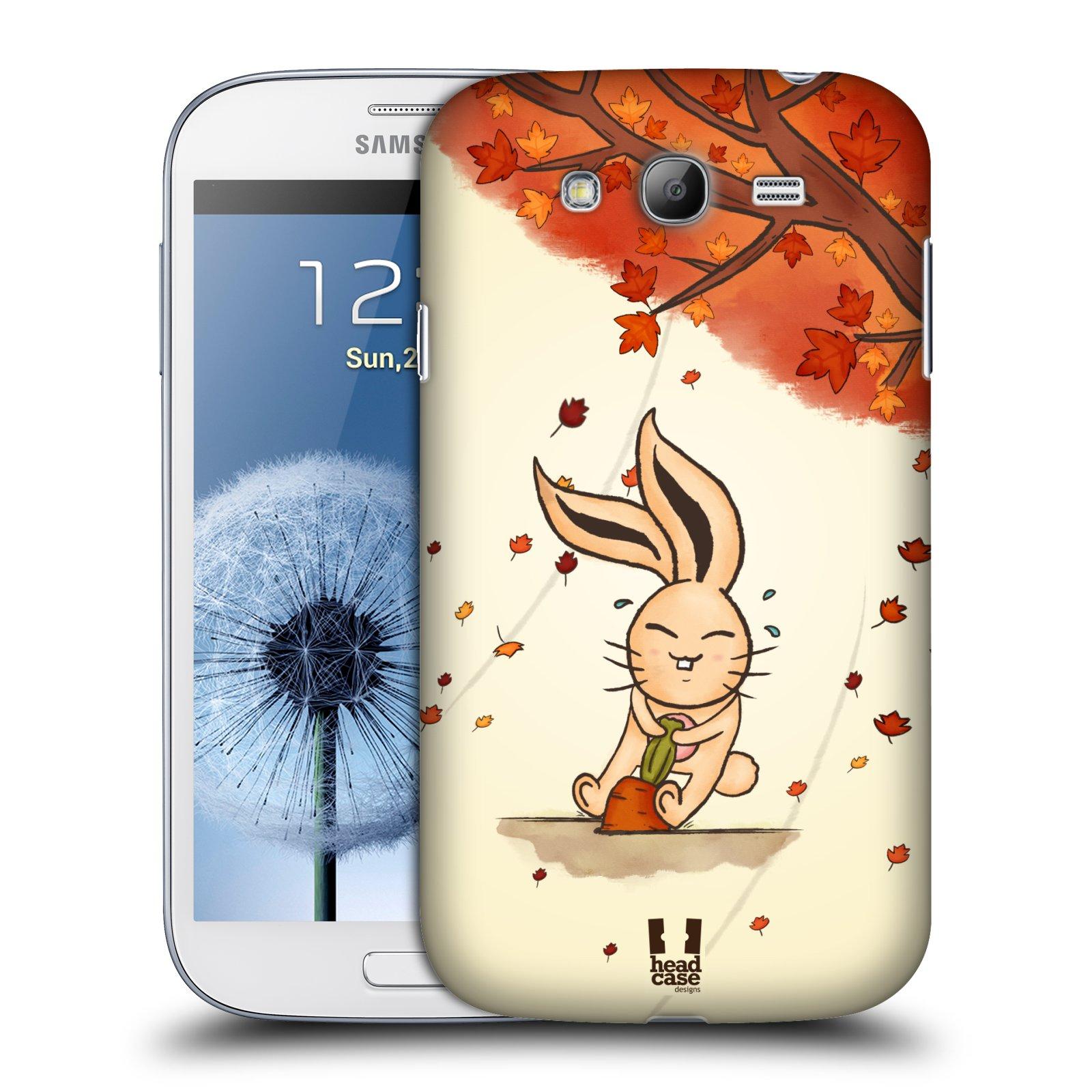 HEAD CASE plastový obal na mobil SAMSUNG GALAXY Grand i9080 vzor podzimní zvířátka zajíček a mrkev