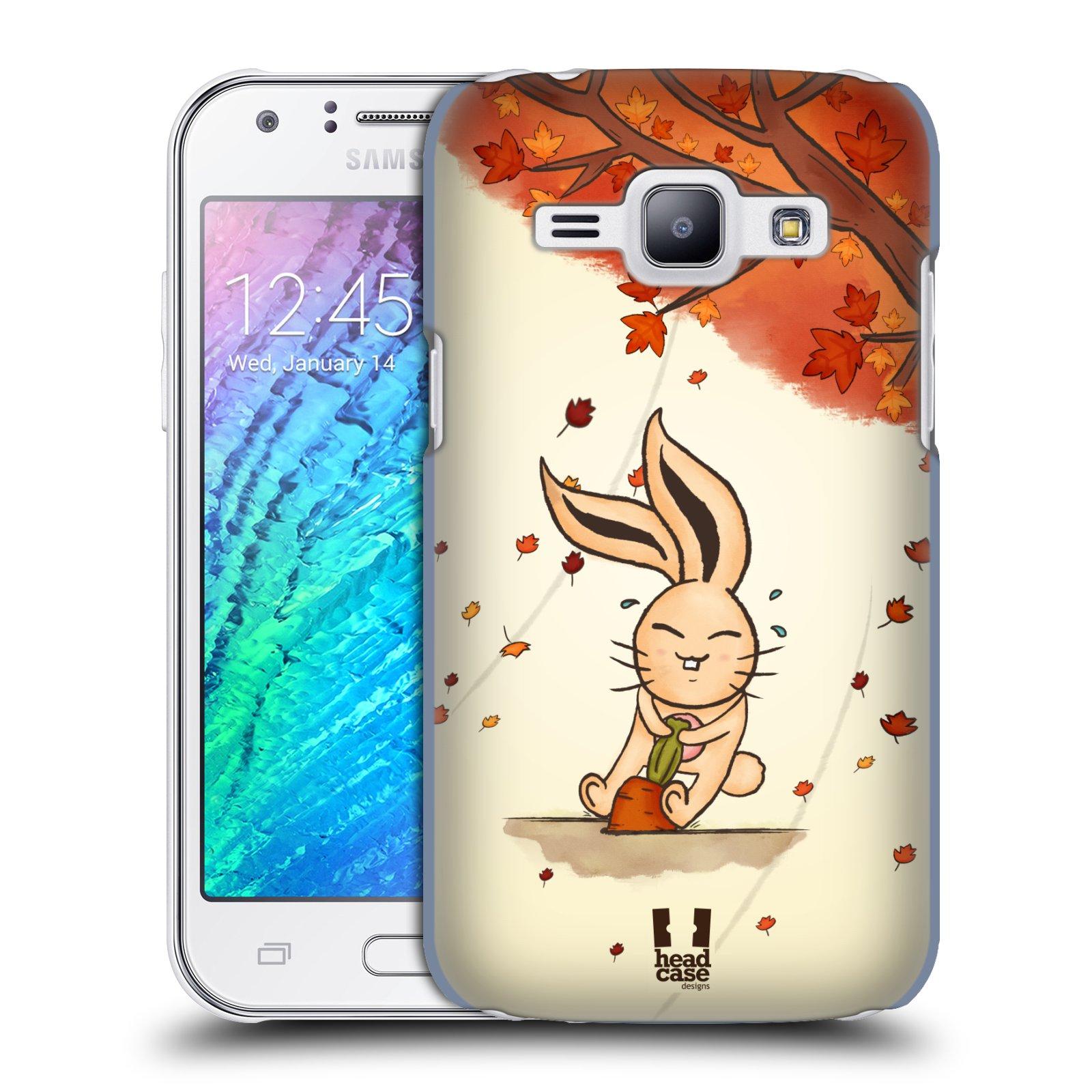 HEAD CASE plastový obal na mobil SAMSUNG Galaxy J1, J100 vzor podzimní zvířátka zajíček a mrkev