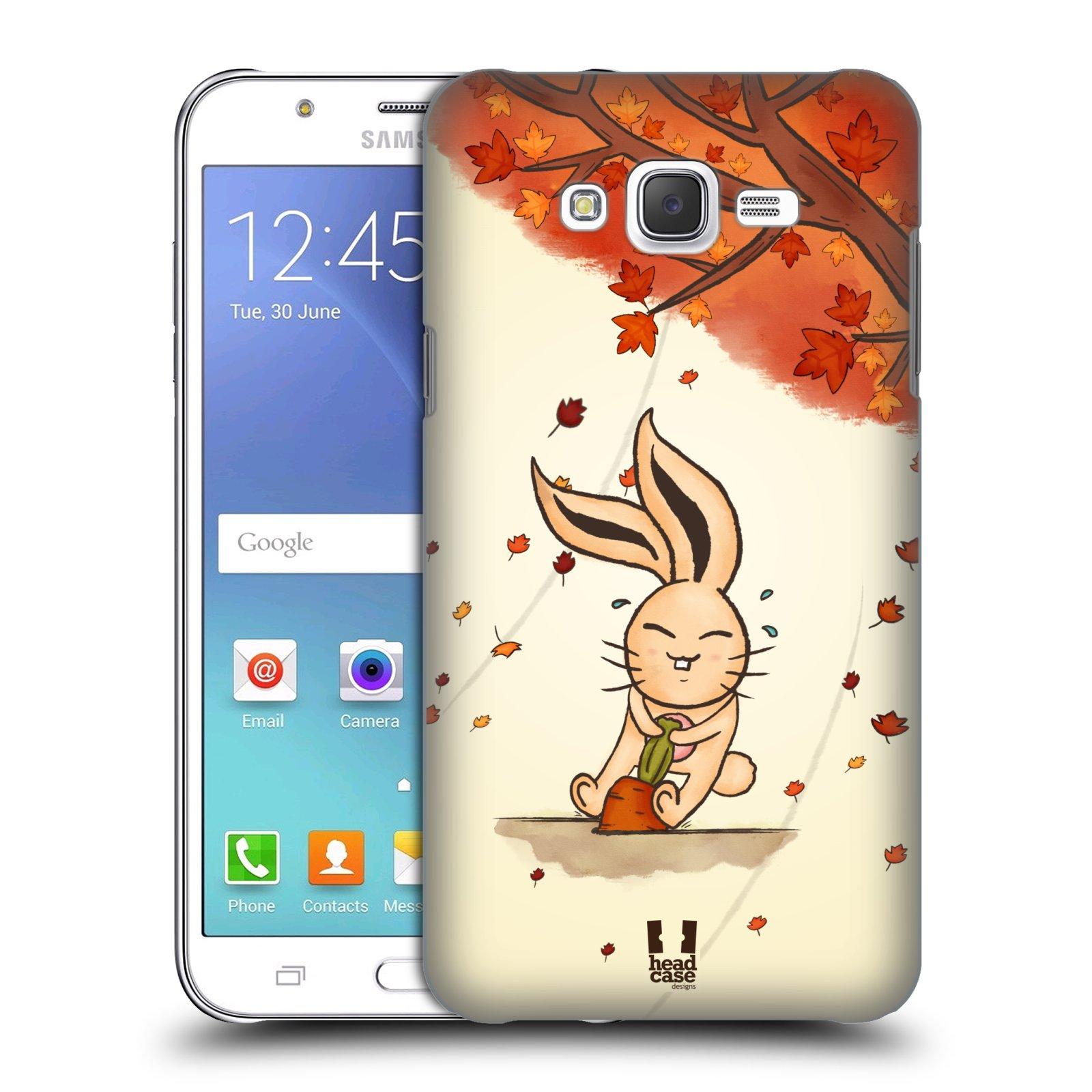 HEAD CASE plastový obal na mobil SAMSUNG Galaxy J7, J700 vzor podzimní zvířátka zajíček a mrkev
