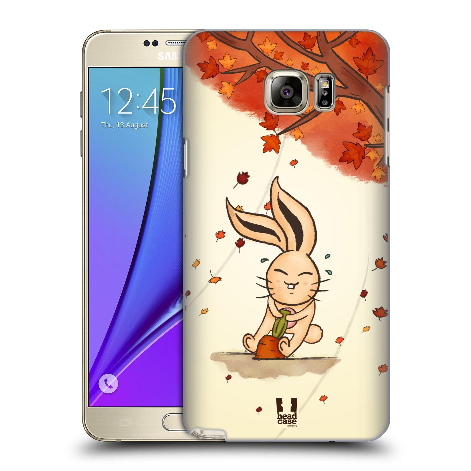 HEAD CASE plastový obal na mobil SAMSUNG Galaxy Note 5 (N920) vzor podzimní zvířátka zajíček a mrkev