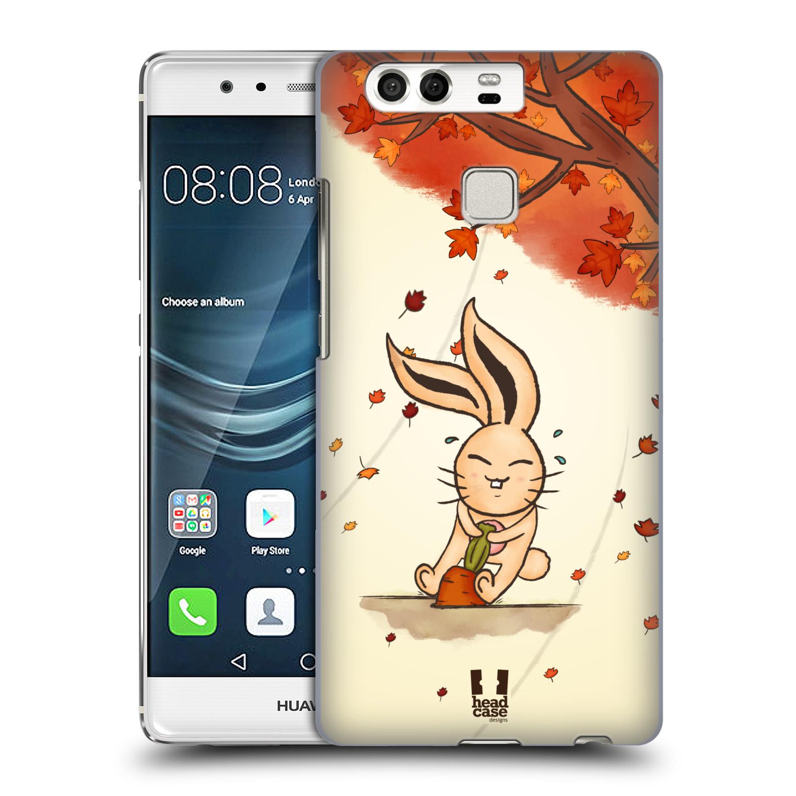HEAD CASE plastový obal na mobil Huawei P9 / P9 DUAL SIM vzor podzimní zvířátka zajíček a mrkev