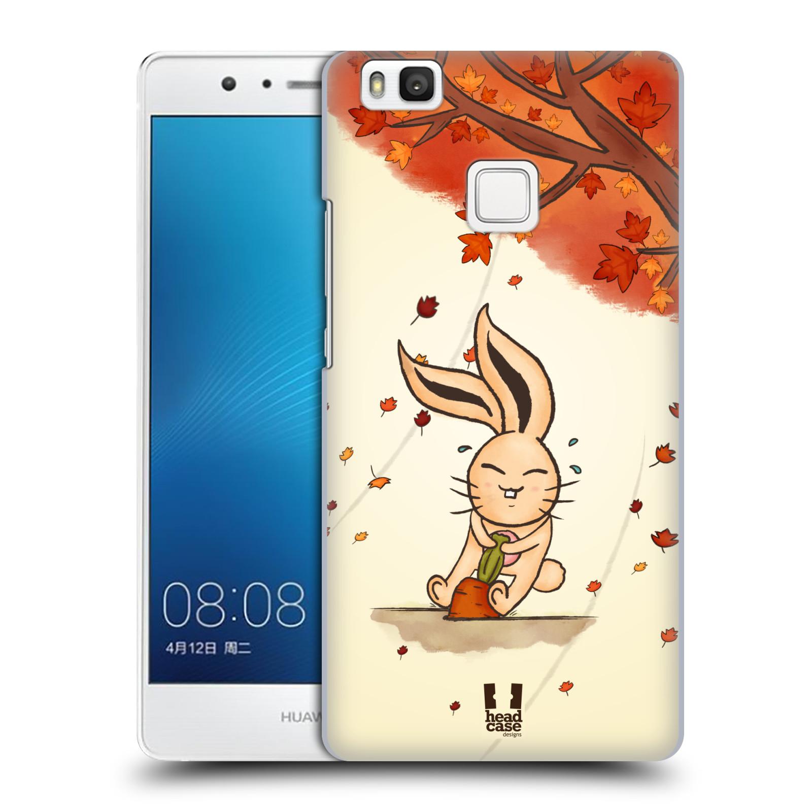 HEAD CASE plastový obal na mobil Huawei P9 LITE / P9 LITE DUAL SIM vzor podzimní zvířátka zajíček a mrkev