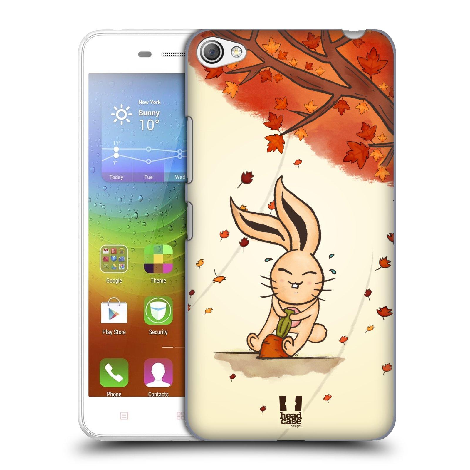 HEAD CASE pevný plastový obal na mobil LENOVO S60 / LENOVO S60 DUAL SIM vzor podzimní zvířátka zajíček a mrkev
