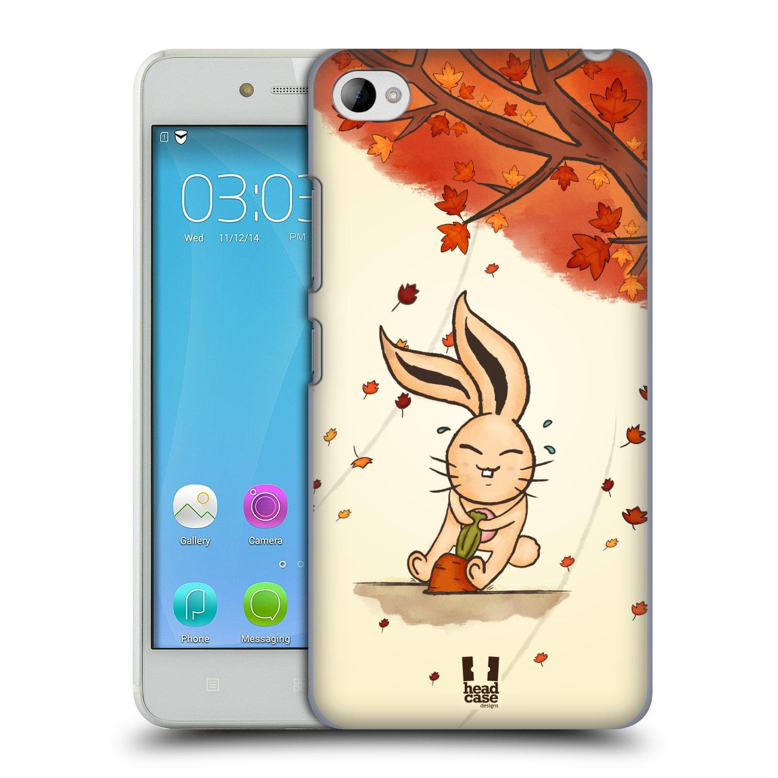 HEAD CASE pevný plastový obal na mobil LENOVO S90 vzor podzimní zvířátka zajíček a mrkev