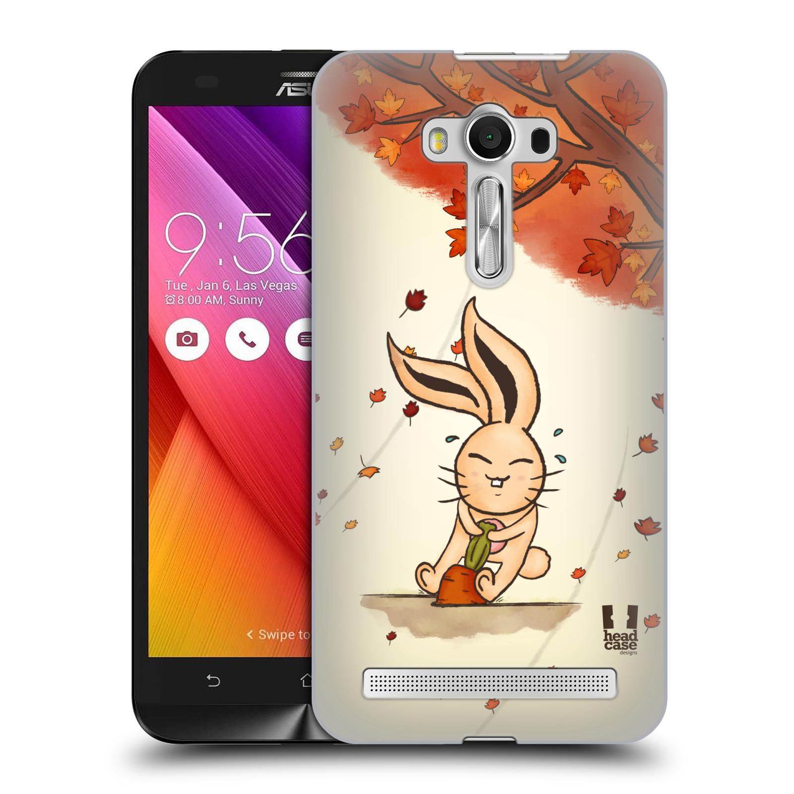HEAD CASE plastový obal na mobil Asus Zenfone 2 LASER (5,5 displej ZE550KL) vzor podzimní zvířátka zajíček a mrkev