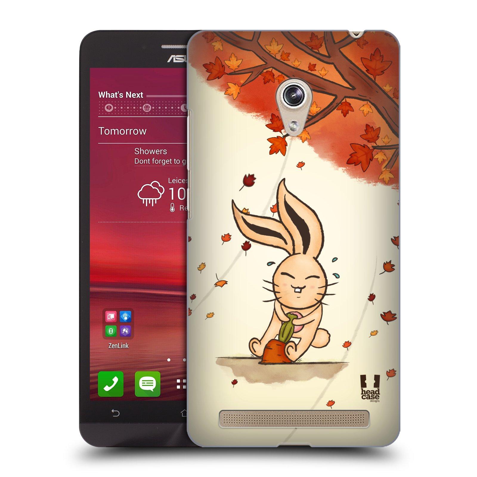HEAD CASE plastový obal na mobil Asus Zenfone 6 vzor podzimní zvířátka zajíček a mrkev