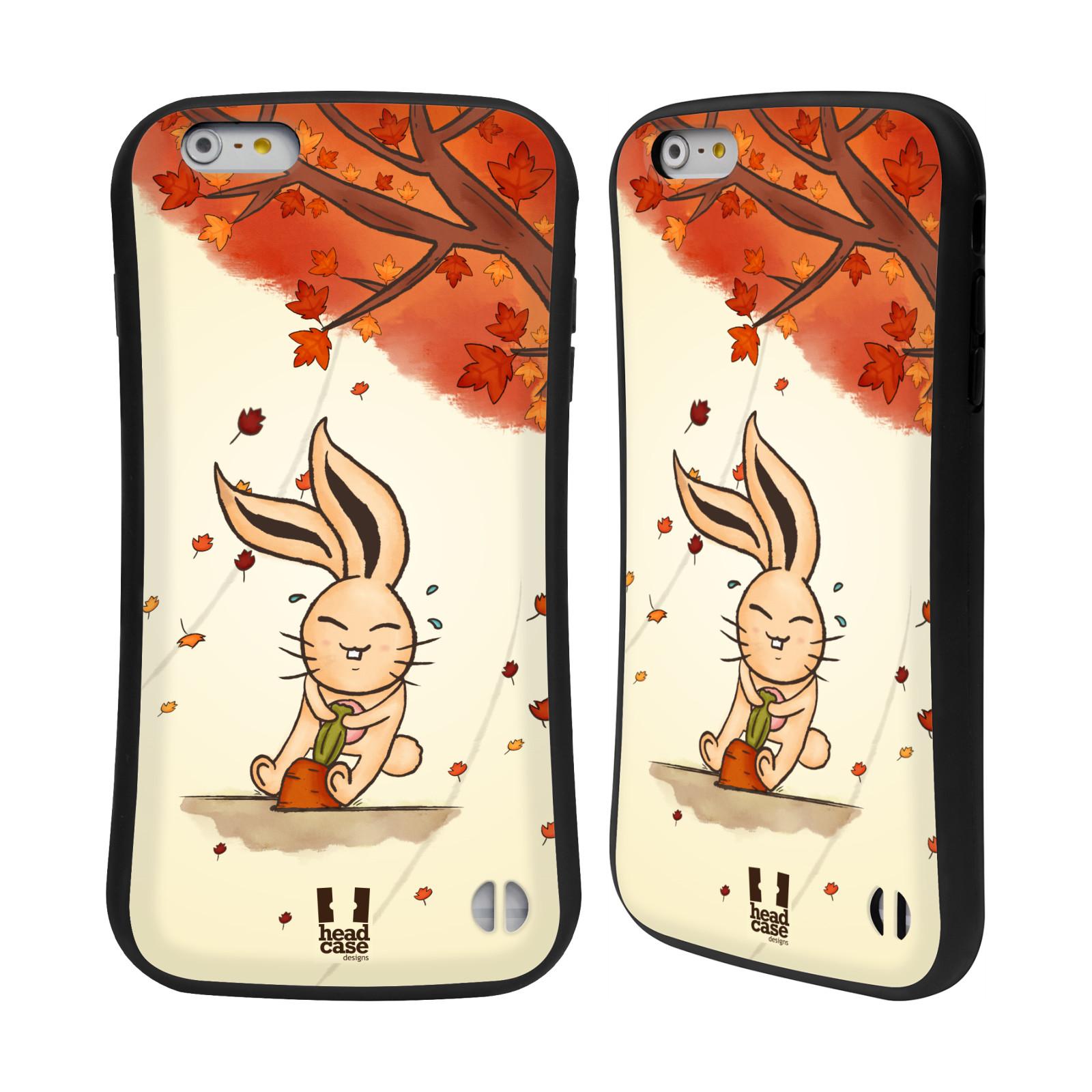 HEAD CASE silikon/plast odolný obal na mobil Apple Iphone 6 PLUS / 6S PLUS vzor podzimní zvířátka zajíček a mrkev
