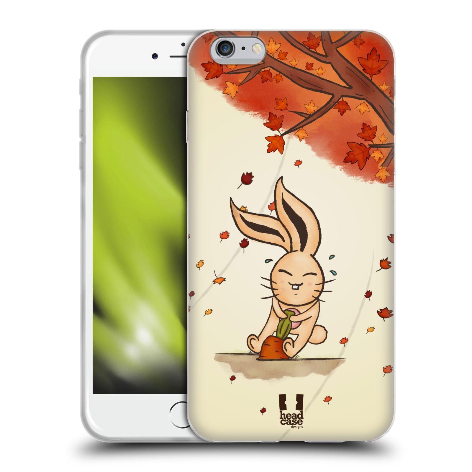 HEAD CASE silikonový obal na mobil Apple Iphone 6 PLUS/ 6S PLUS vzor podzimní zvířátka zajíček a mrkev