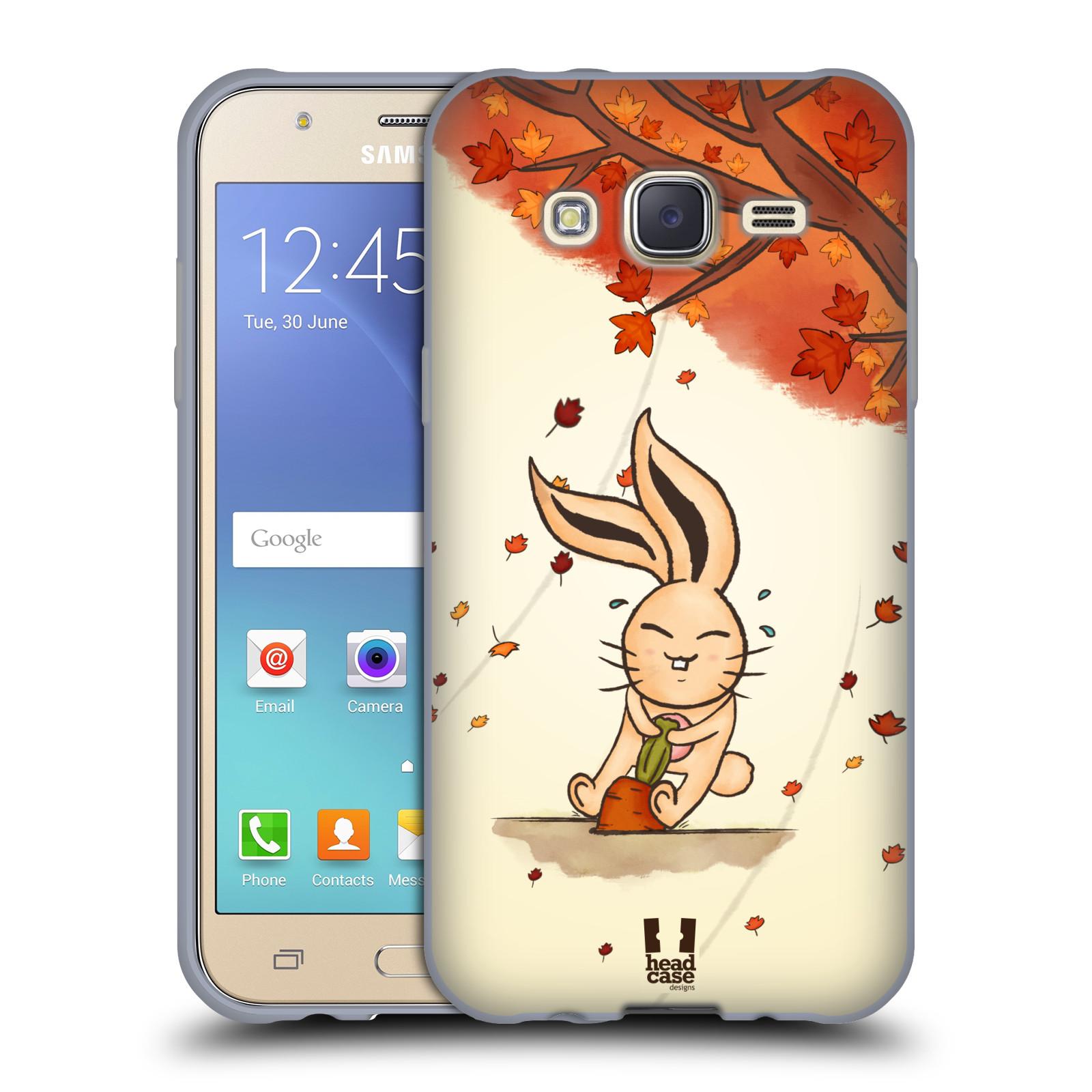 HEAD CASE silikonový obal na mobil Samsung Galaxy J5, J500, (J5 DUOS) vzor podzimní zvířátka zajíček a mrkev