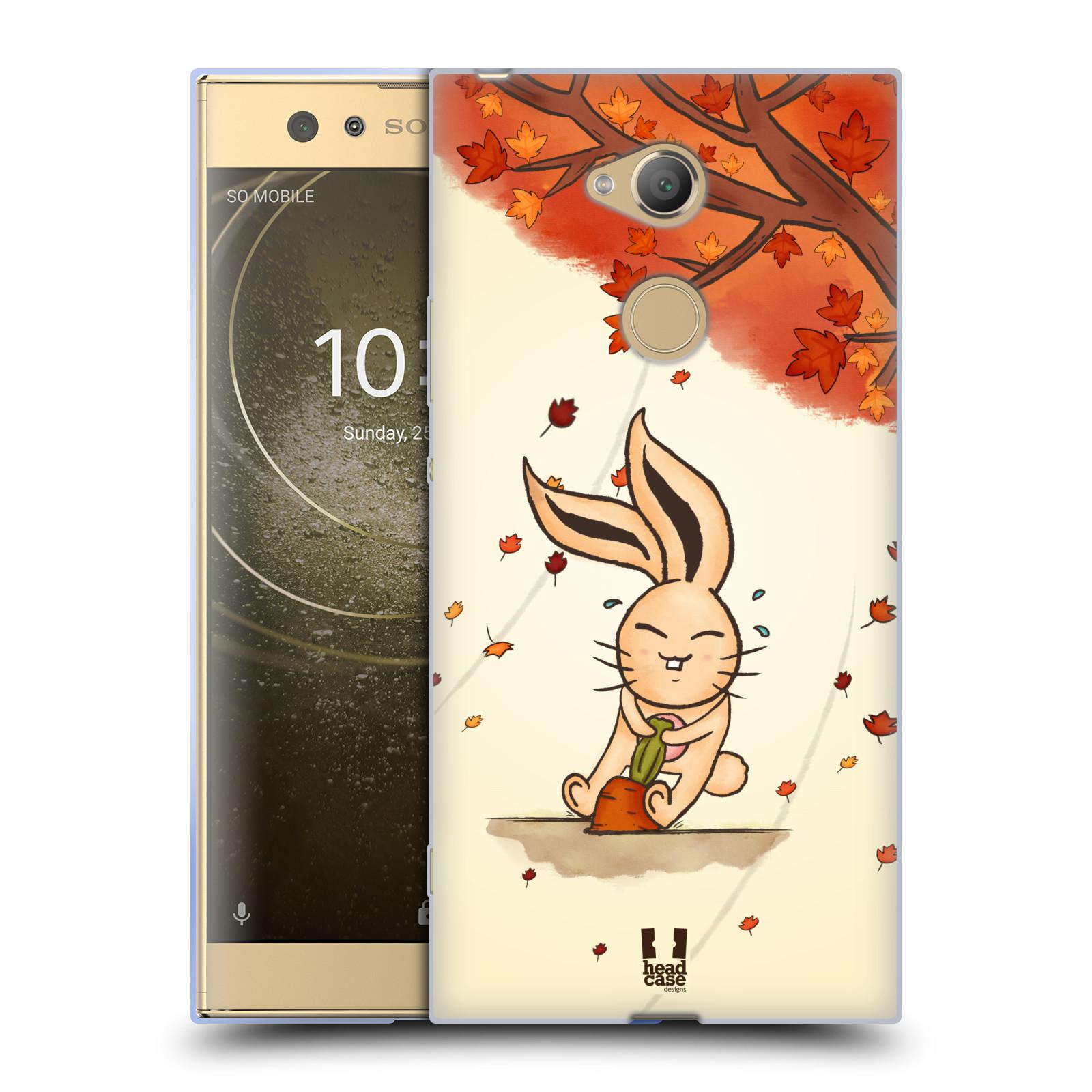 Pouzdro na mobil Sony Xperia XA2 Ultra vzor podzimní zvířátka zajíček a mrkev