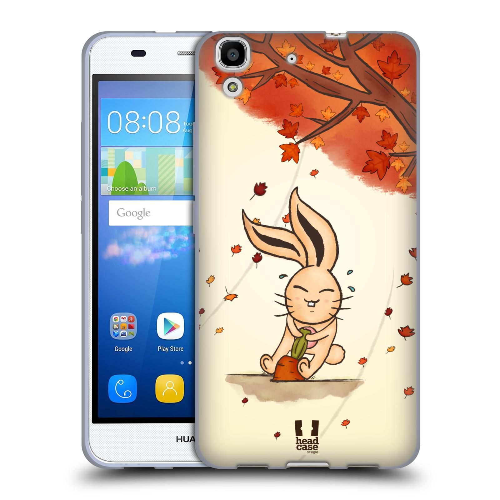 HEAD CASE silikonový obal na mobil HUAWEI Y6 vzor podzimní zvířátka zajíček a mrkev