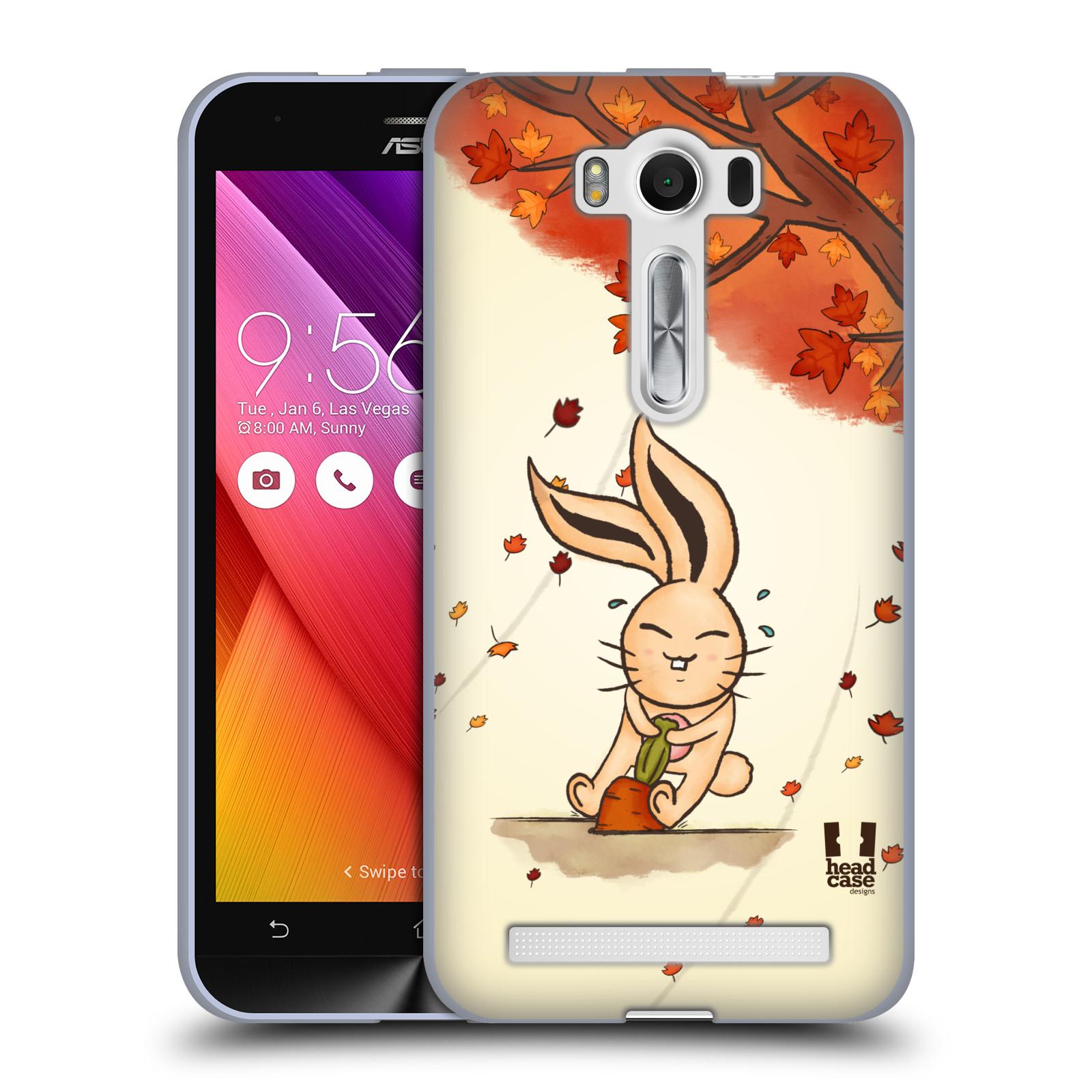 """HEAD CASE silikonový obal na mobil Asus Zenfone 2 LASER (ZE500KL s 5"""" displejem) vzor podzimní zvířátka zajíček a mrkev"""