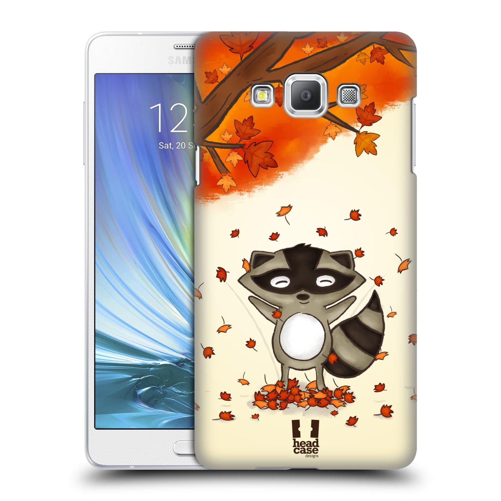 HEAD CASE plastový obal na mobil SAMSUNG GALAXY A7 vzor podzimní zvířátka mýval