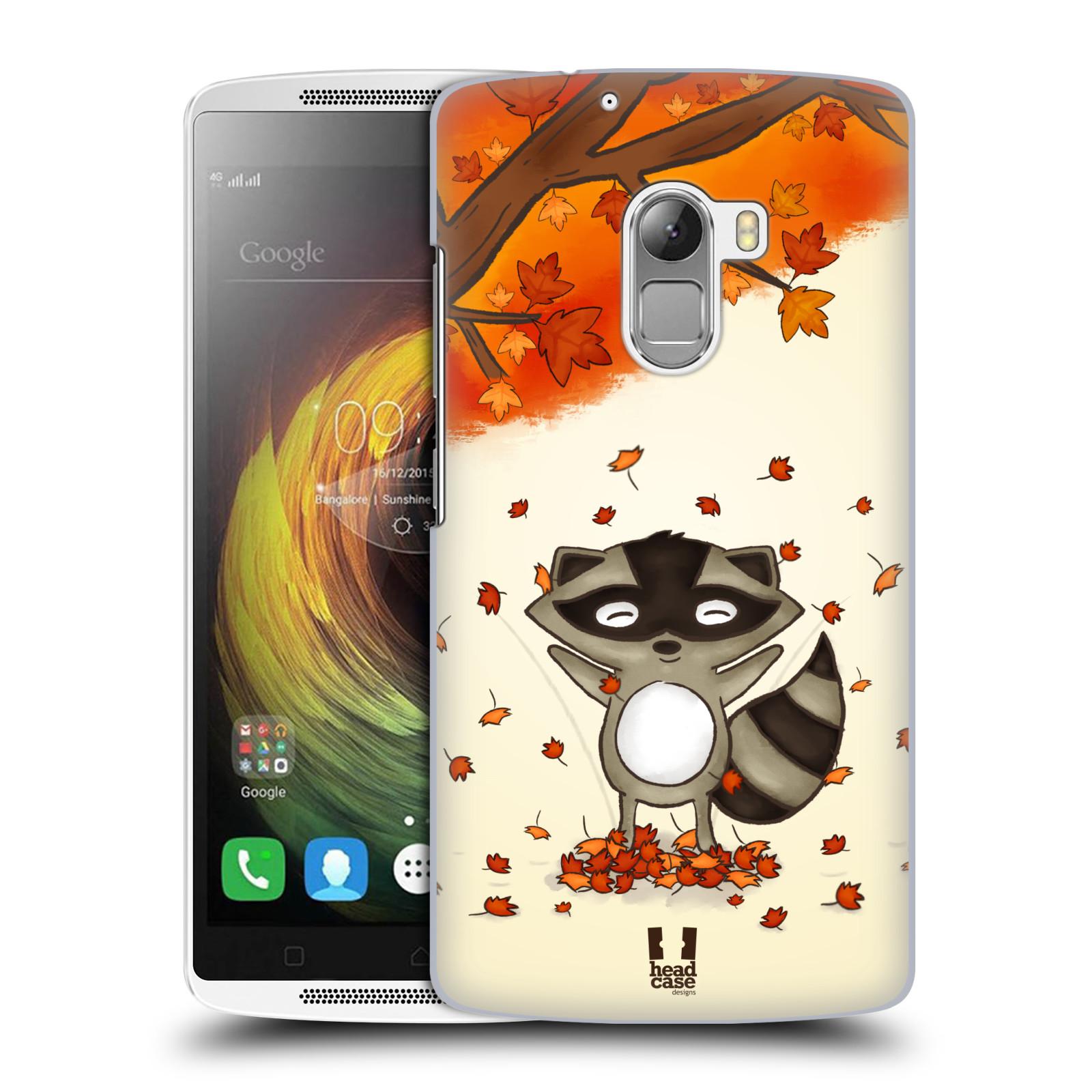 HEAD CASE pevný plastový obal na mobil LENOVO A7010 / A7010 DUAL / K4 Note / Vibe X3 lite vzor podzimní zvířátka mýval