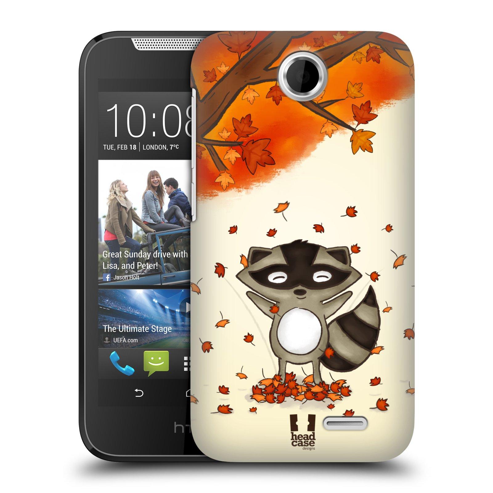 HEAD CASE plastový obal na mobil HTC Desire 310 vzor podzimní zvířátka mýval