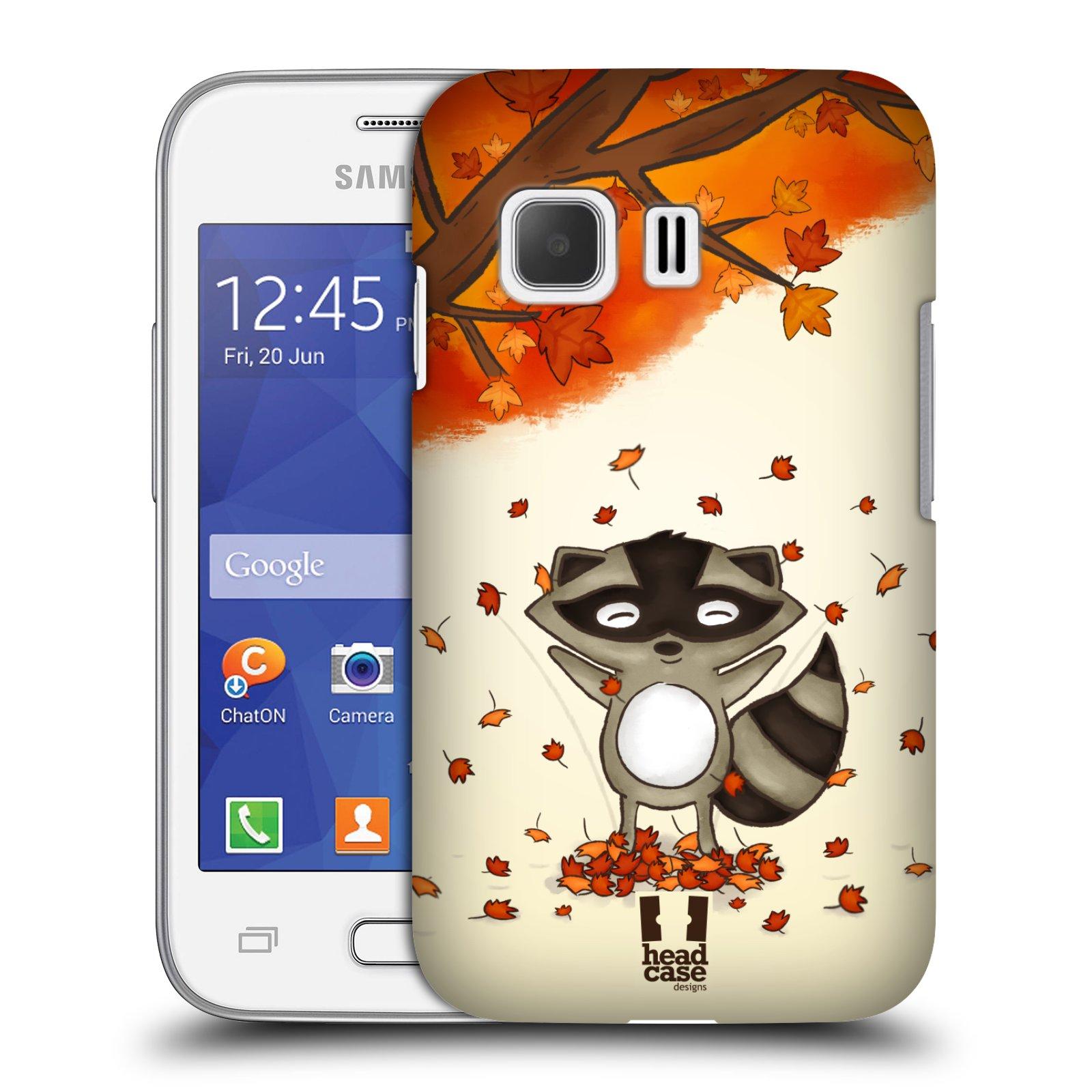 HEAD CASE plastový obal na mobil SAMSUNG Galaxy Young 2 (G130) vzor podzimní zvířátka mýval