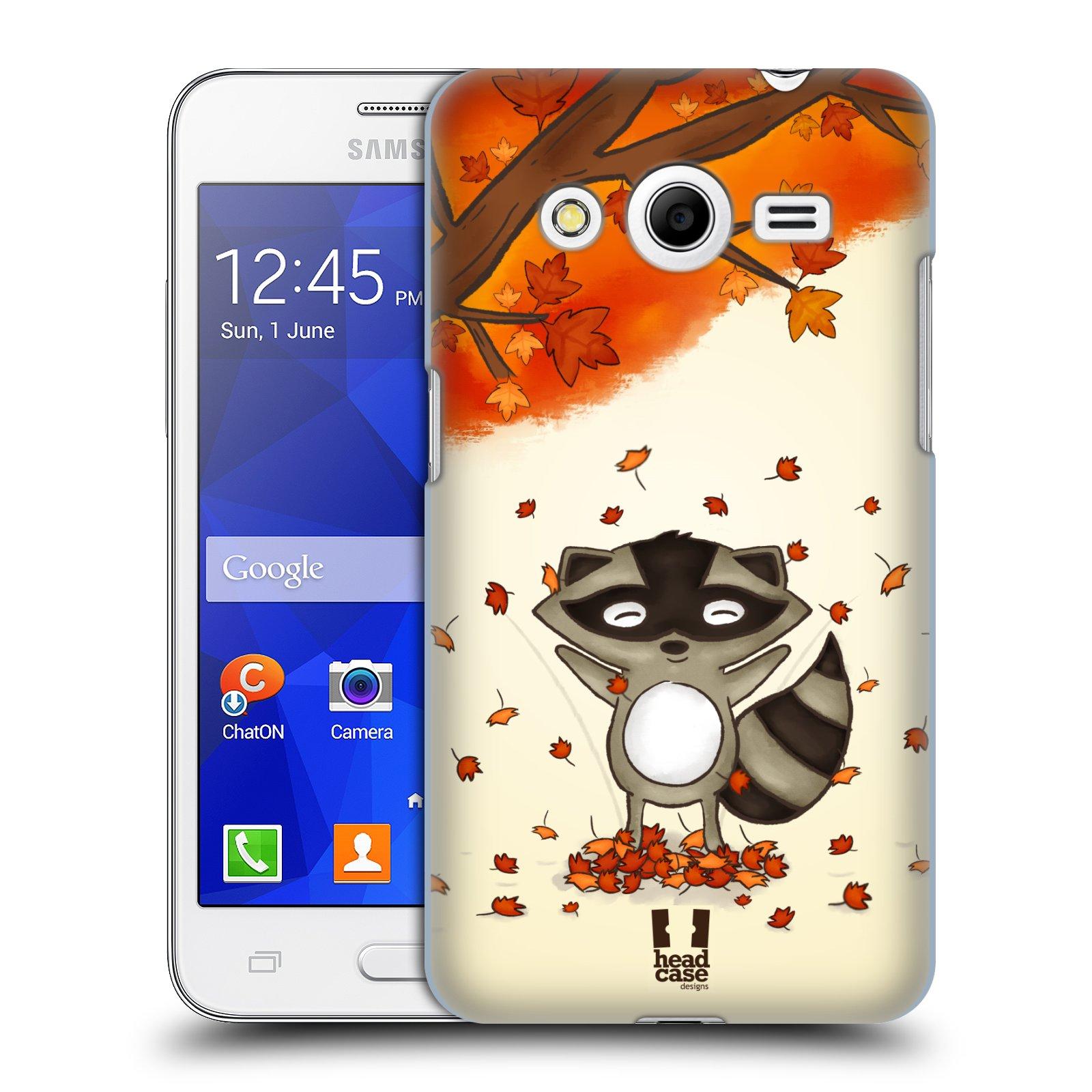 HEAD CASE plastový obal na mobil SAMSUNG GALAXY Core 2 (G355H) vzor podzimní zvířátka mýval