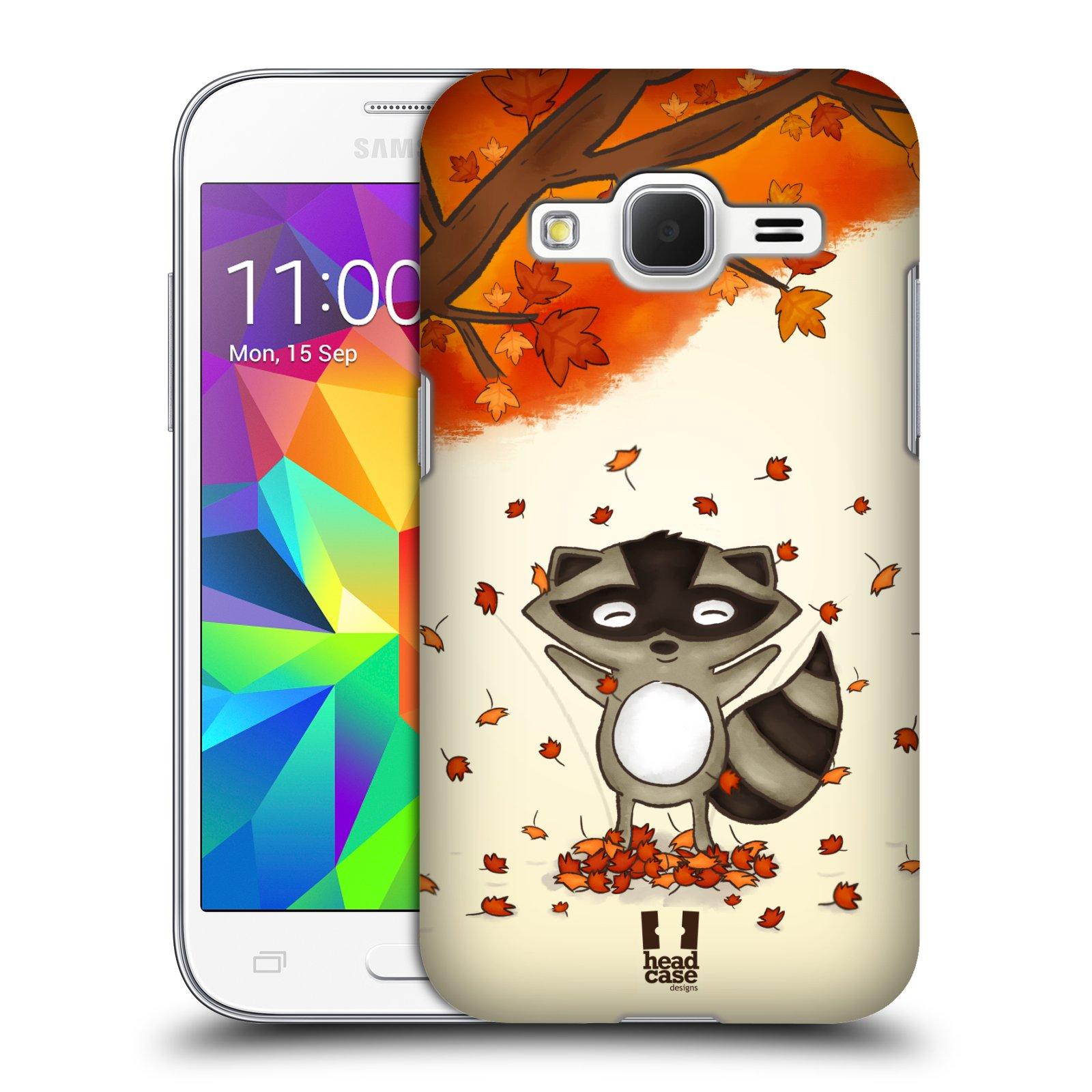 HEAD CASE plastový obal na mobil SAMSUNG GALAXY Core Prime (Core Prime VE) vzor podzimní zvířátka mýval
