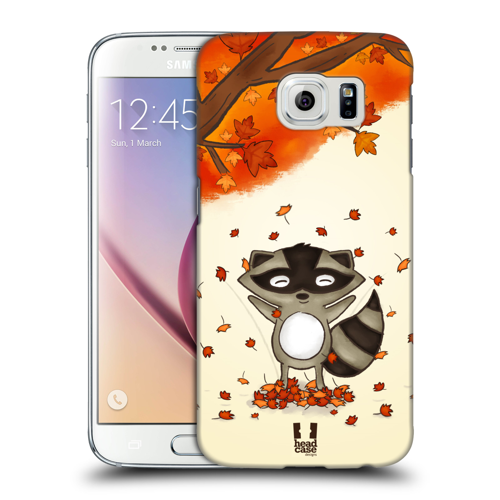 HEAD CASE plastový obal na mobil SAMSUNG Galaxy S6 (G9200, G920F) vzor podzimní zvířátka mýval