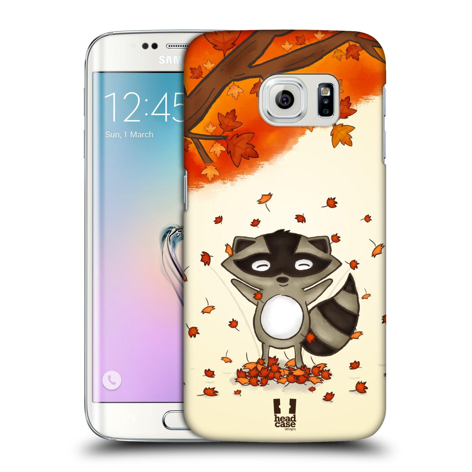 HEAD CASE plastový obal na mobil SAMSUNG Galaxy S6 EDGE (G9250, G925, G925F) vzor podzimní zvířátka mýval