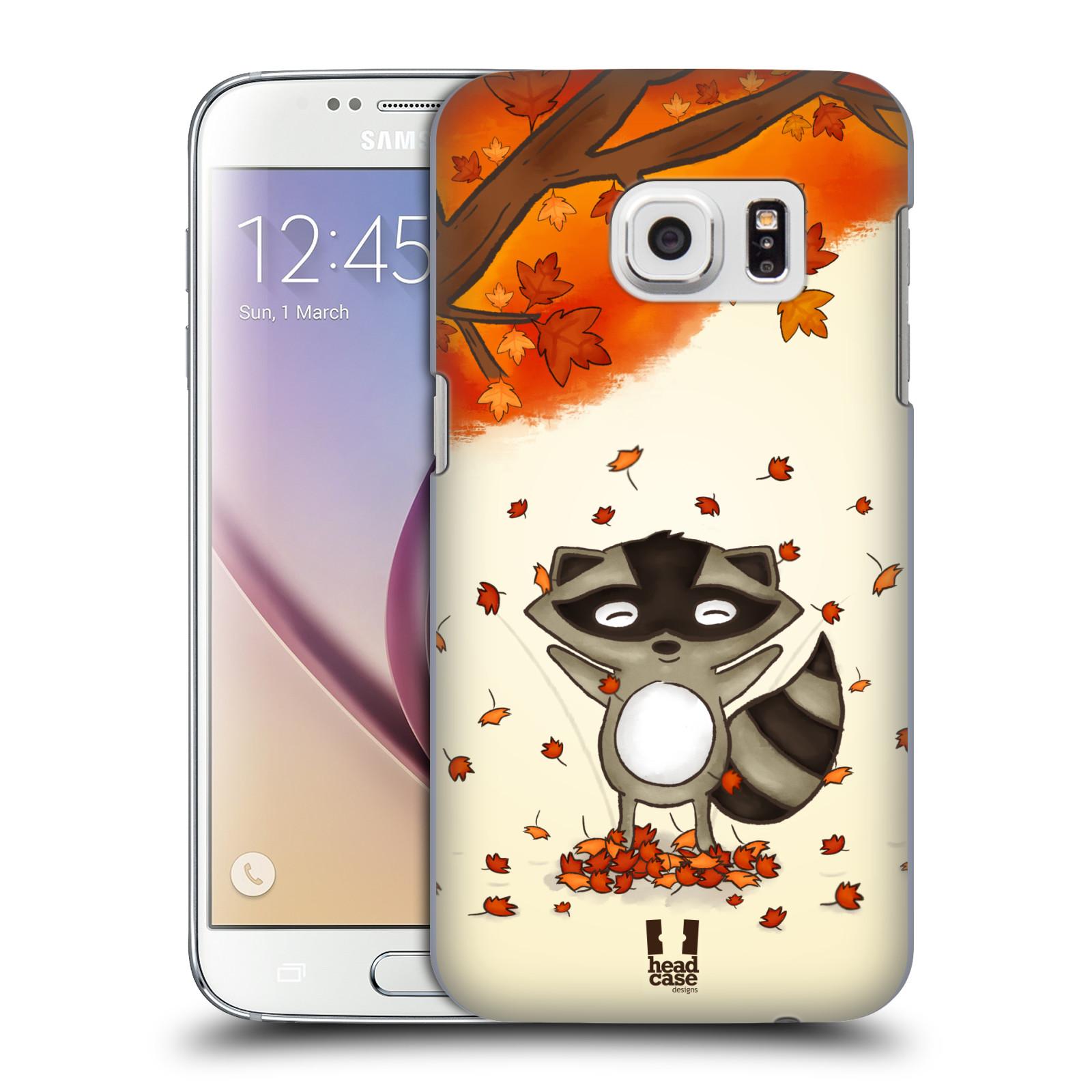 HEAD CASE plastový obal na mobil SAMSUNG GALAXY S7 vzor podzimní zvířátka mýval