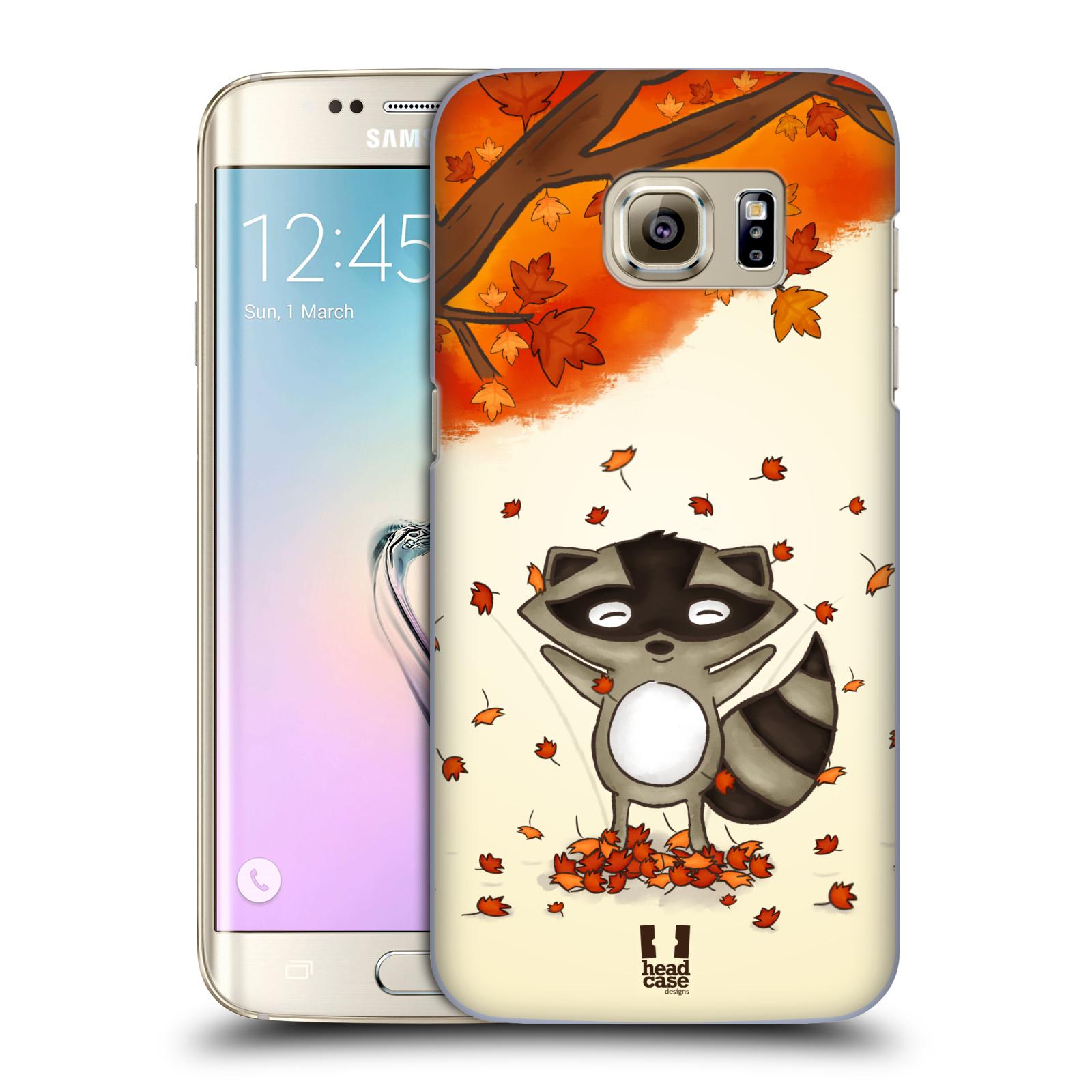 HEAD CASE plastový obal na mobil SAMSUNG GALAXY S7 EDGE vzor podzimní zvířátka mýval