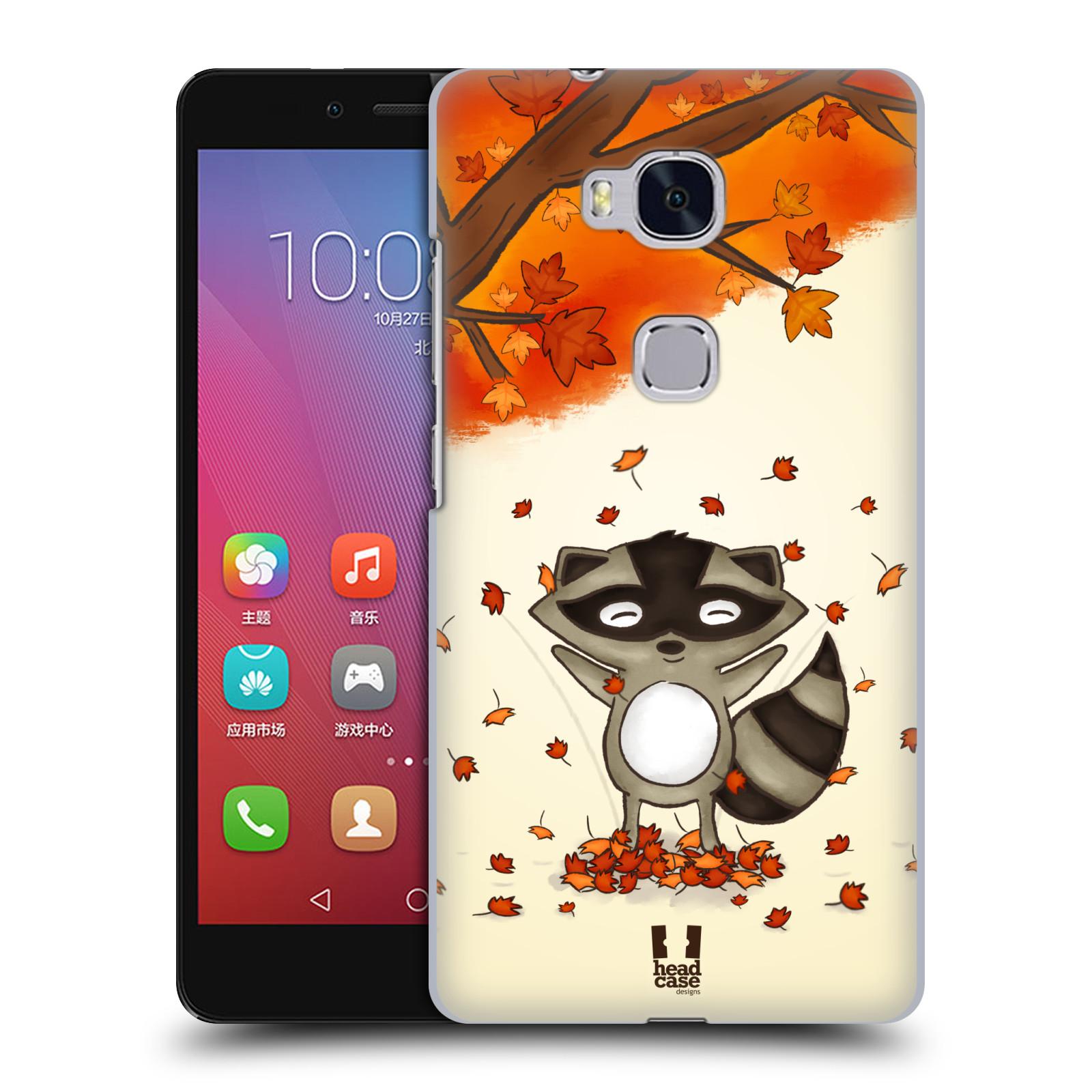 HEAD CASE pevný plastový obal na mobil HUAWEI HONOR 5X vzor podzimní zvířátka mýval