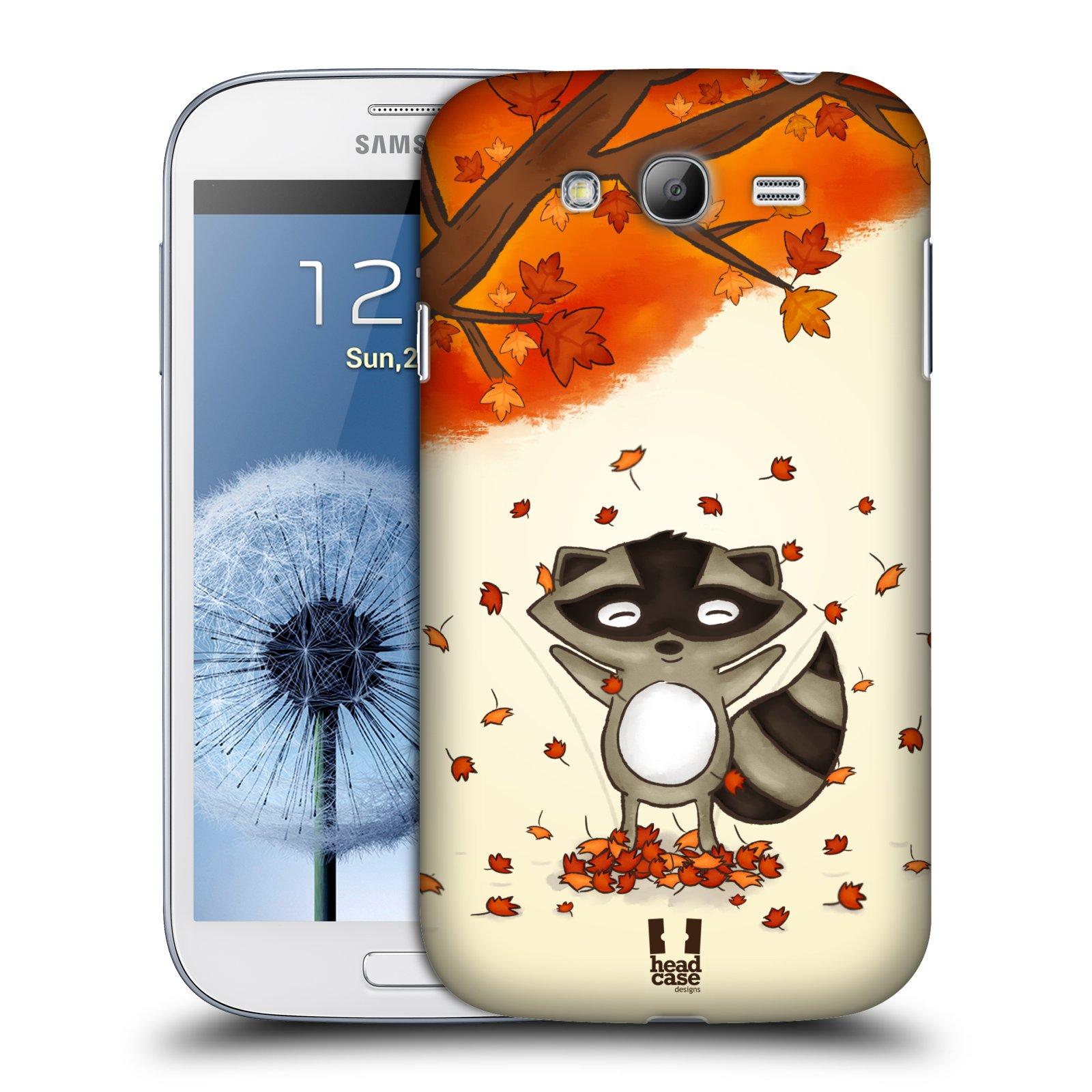 HEAD CASE plastový obal na mobil SAMSUNG GALAXY Grand i9080 vzor podzimní zvířátka mýval
