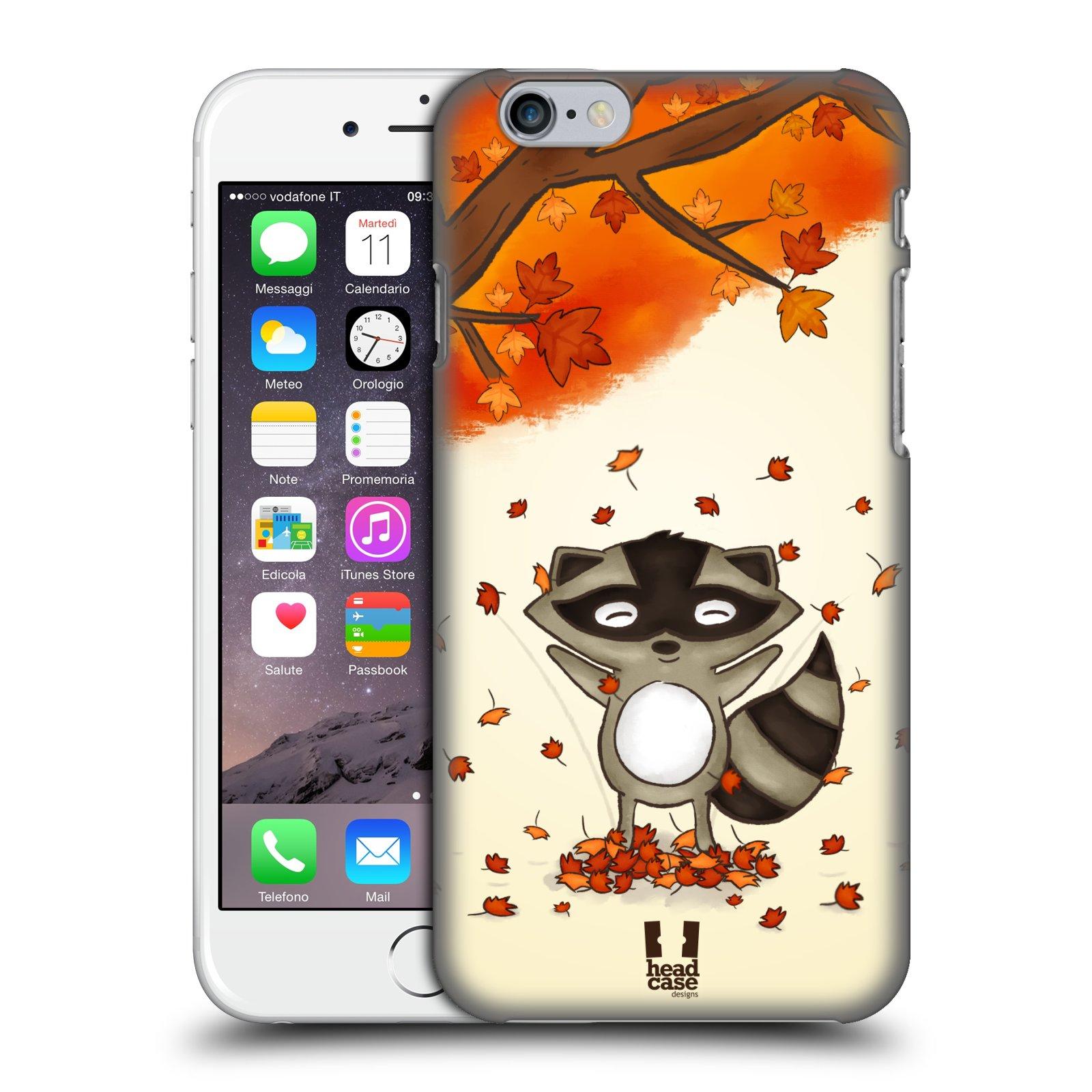 Plastové pouzdro pro mobil Apple Iphone 6/6S vzor podzimní zvířátka mýval