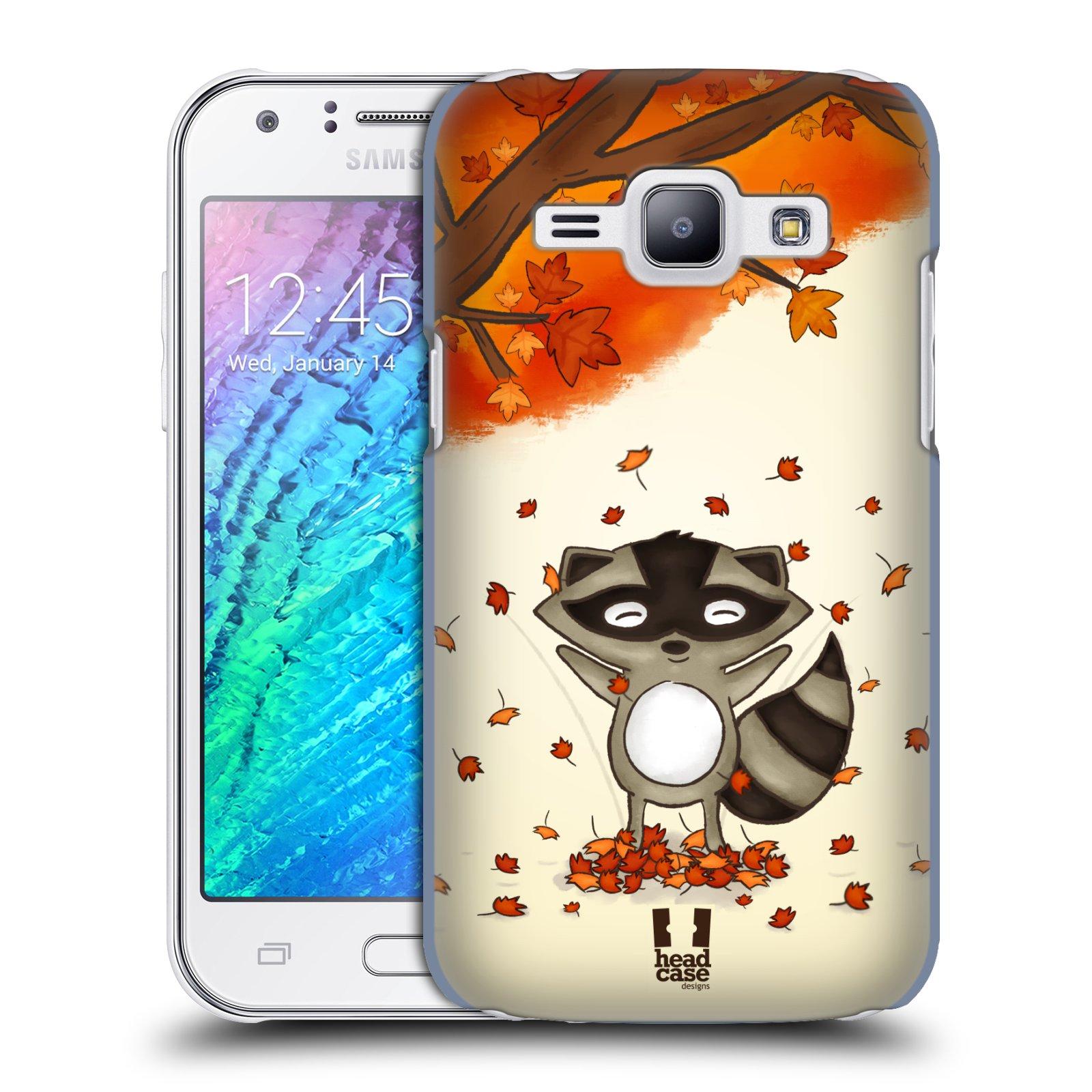 HEAD CASE plastový obal na mobil SAMSUNG Galaxy J1, J100 vzor podzimní zvířátka mýval
