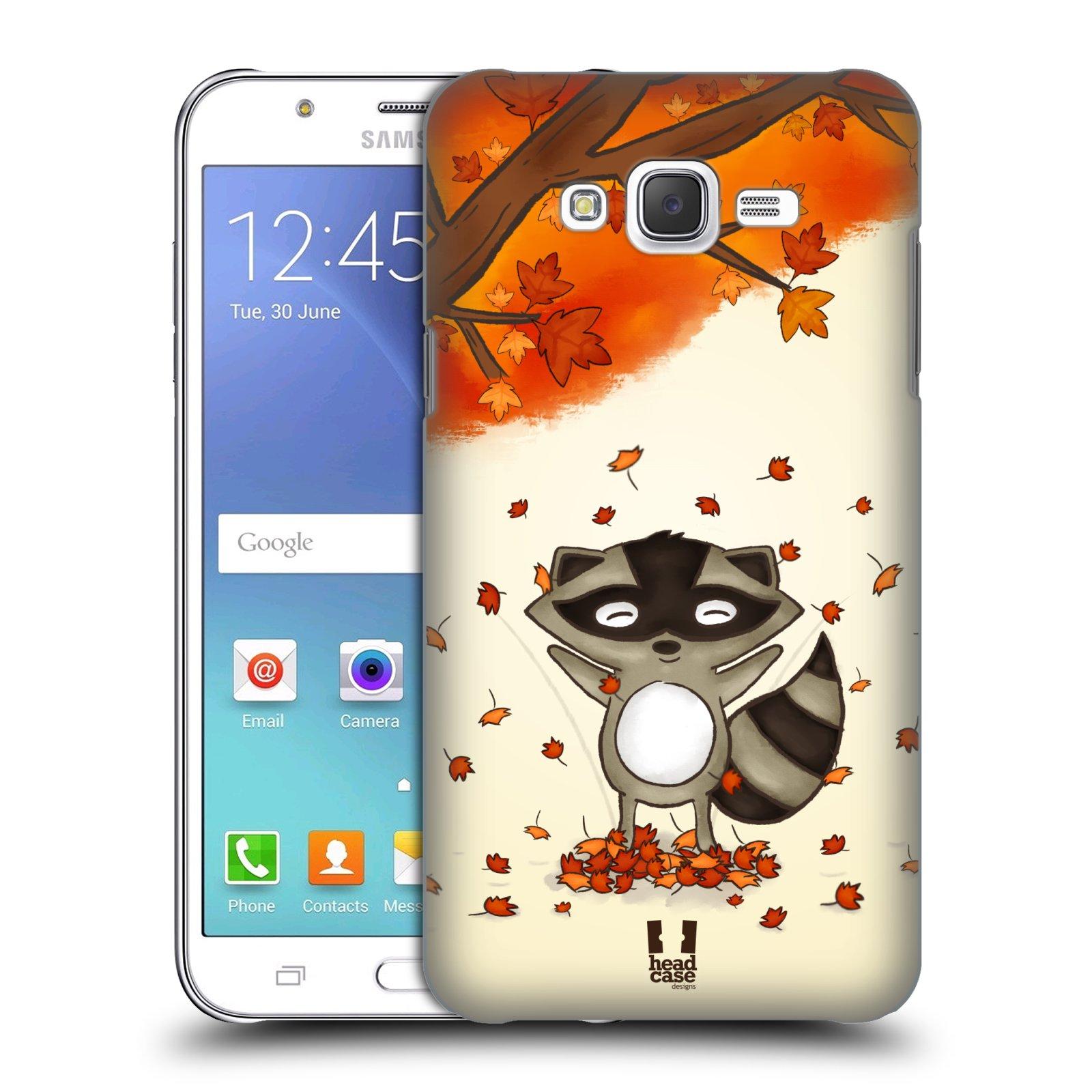 HEAD CASE plastový obal na mobil SAMSUNG Galaxy J7, J700 vzor podzimní zvířátka mýval
