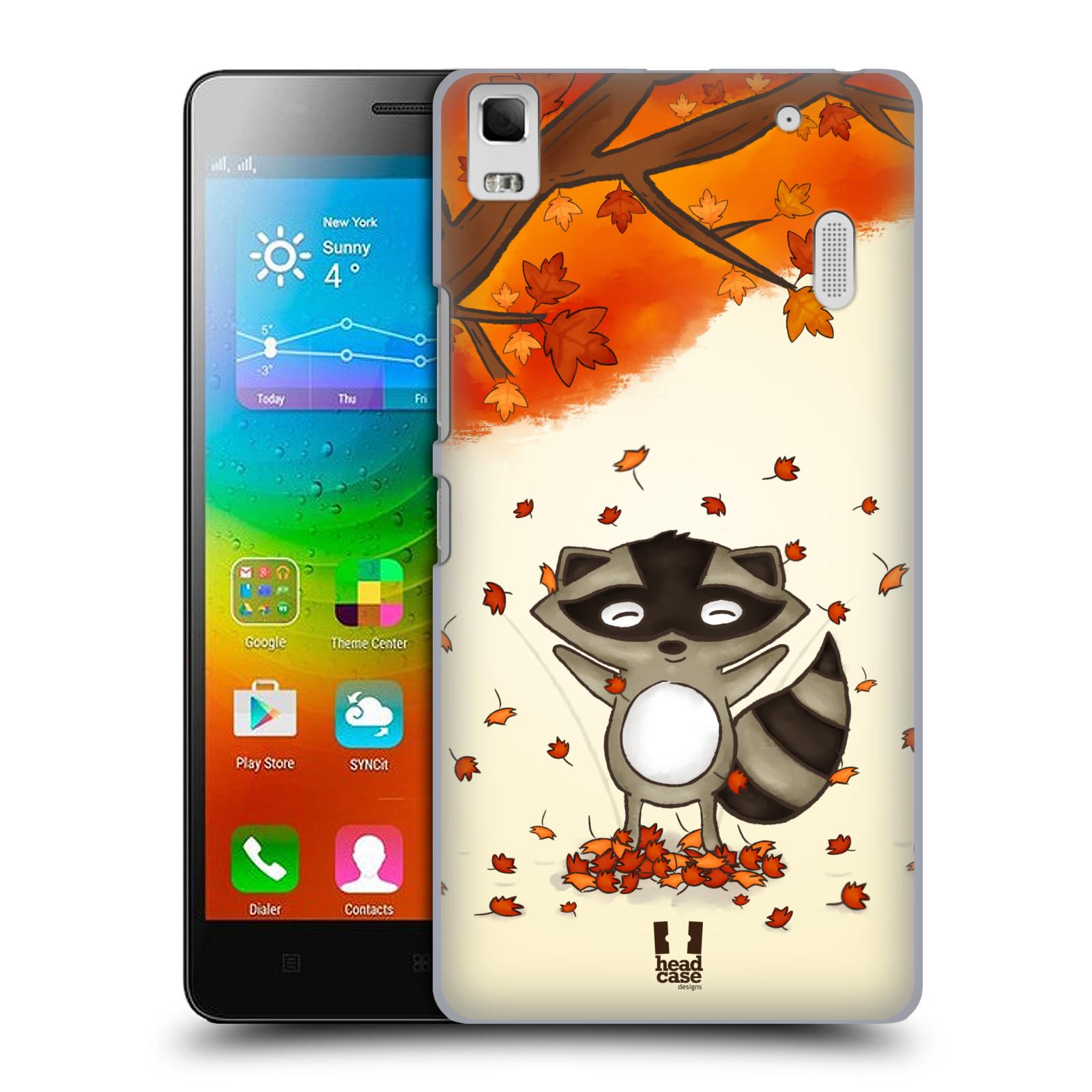 HEAD CASE pevný plastový obal na mobil LENOVO A7000 / A7000 DUAL / K3 NOTE vzor podzimní zvířátka mýval