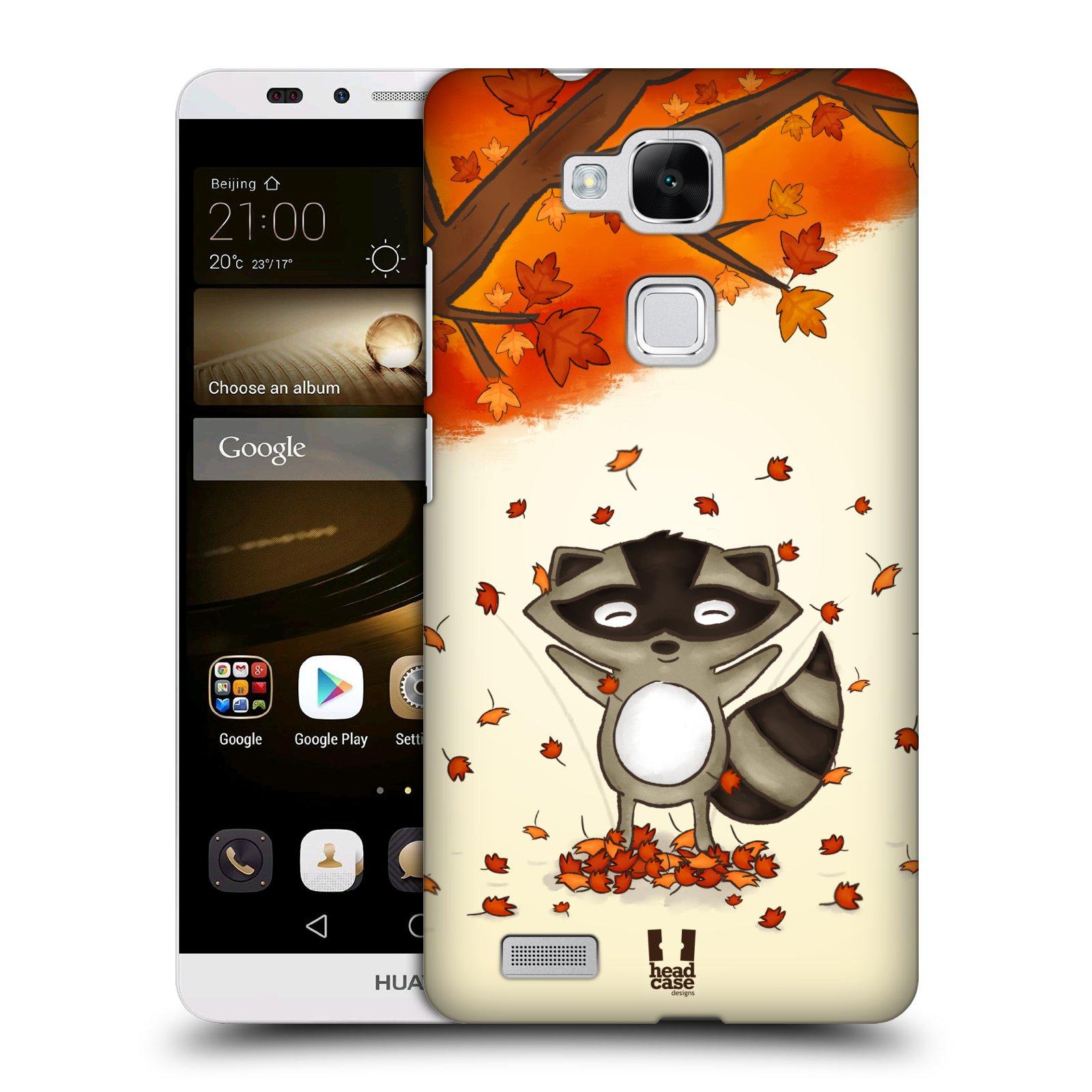 HEAD CASE plastový obal na mobil Huawei Mate 7 vzor podzimní zvířátka mýval